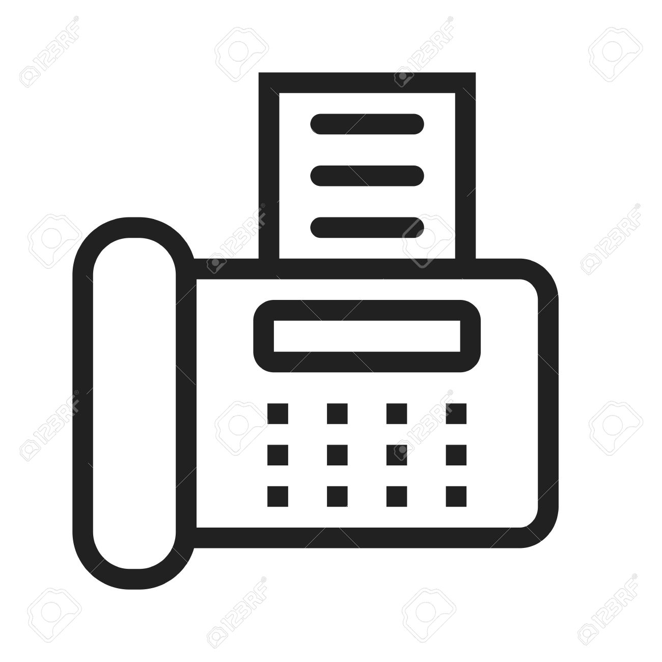fax machine reciept telephone icon vector image can also be royalty free cliparts vectors and stock illustration image 41969496 fax machine reciept telephone icon vector image can also be