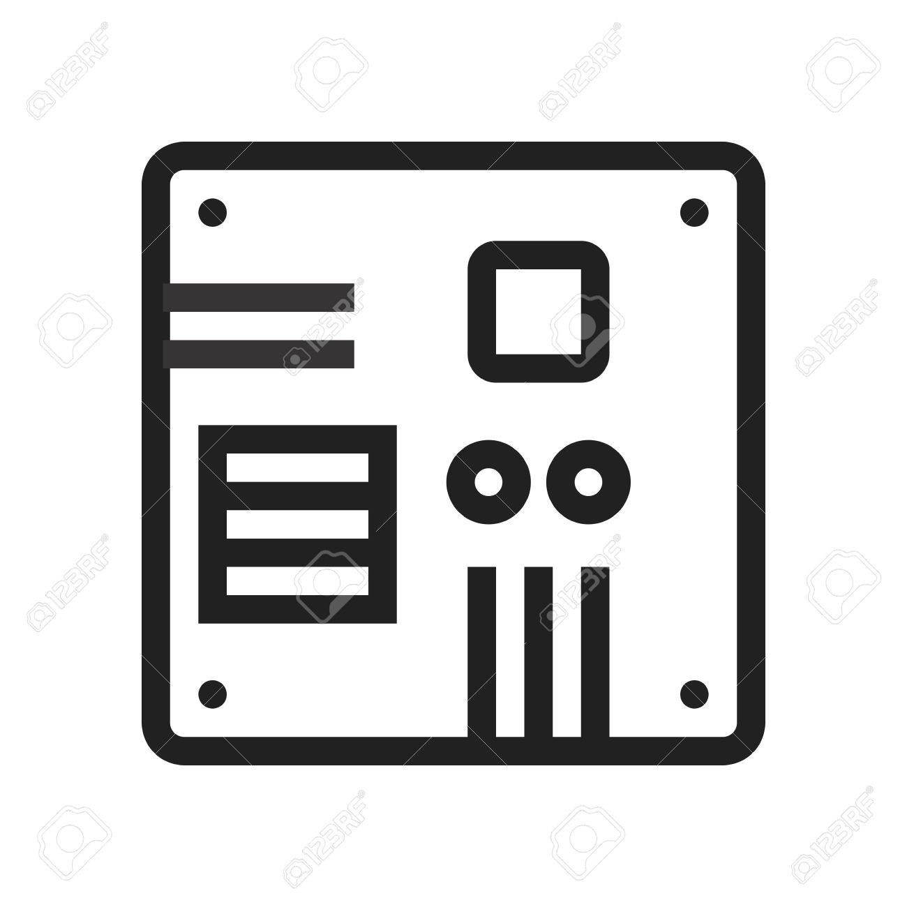 Motherboard, Computer, Circuit, Board Icon Vector Image. Can ...