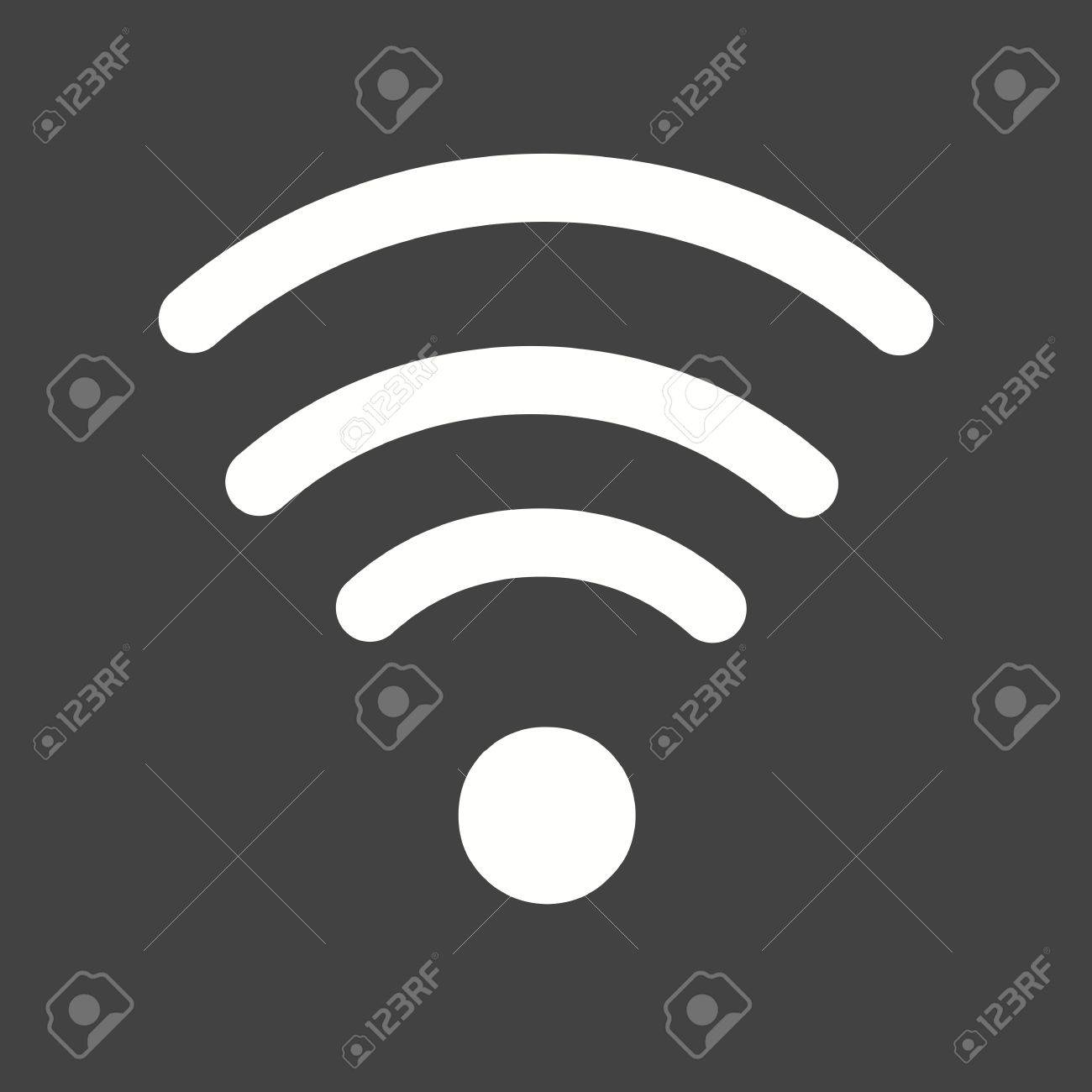 Wifi, signals, connection icon vector image  Can also be used
