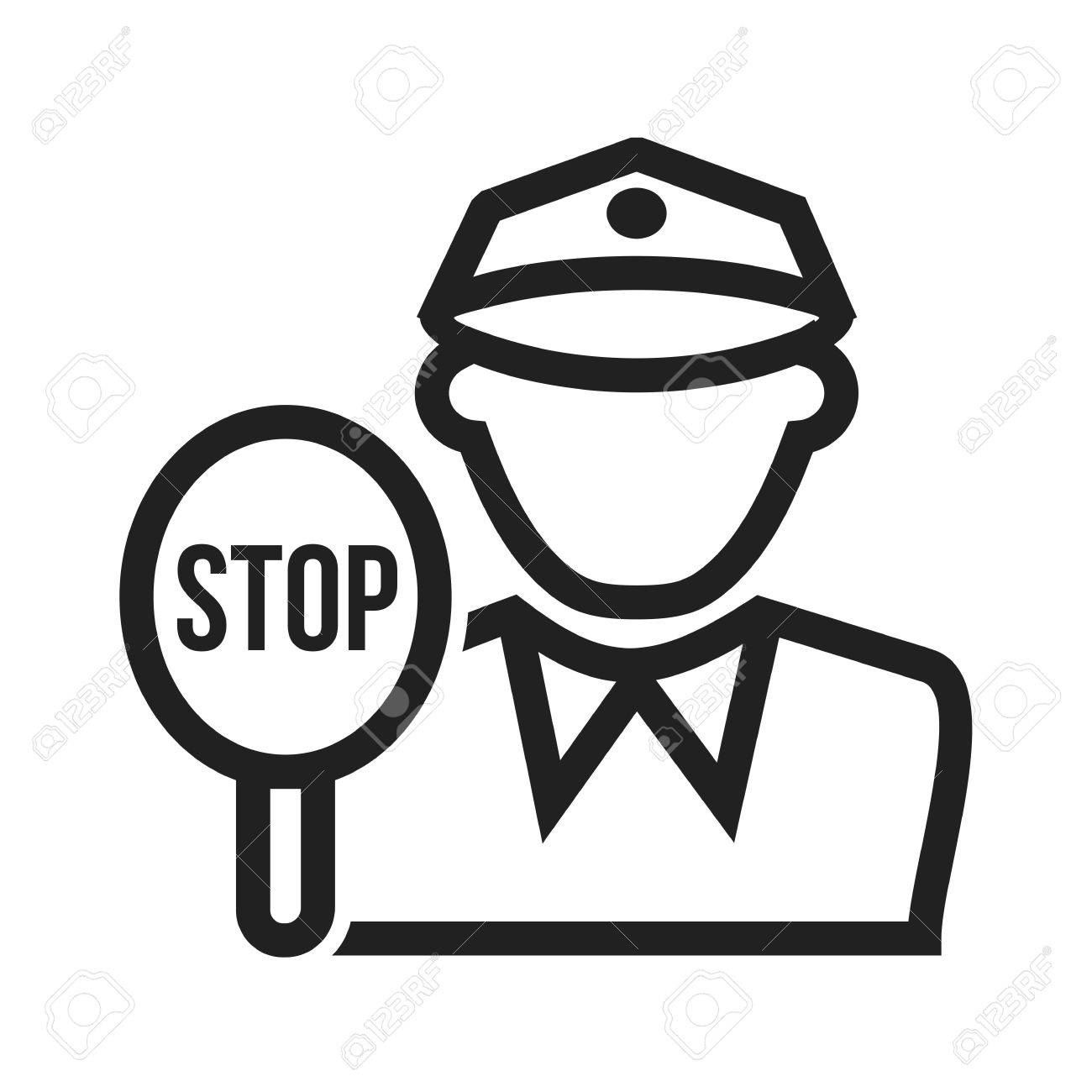 Police, Traffic, Cop Icon Vector Image. Can Also Be Used For ...