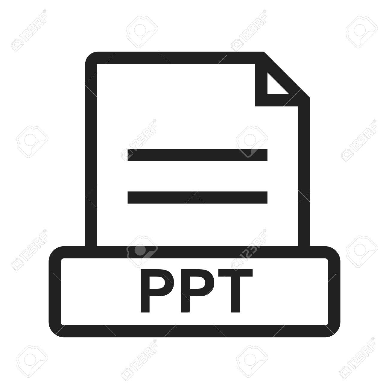 ppt file presentation icon vector image can also be used for
