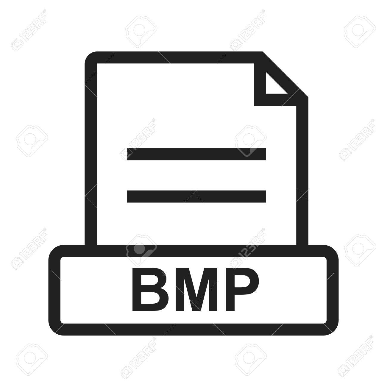BMP, file, extension icon vector image. Can also be used for file format, design and storage. Suitable for mobile apps, web apps and print media. Stock Vector - 43646867