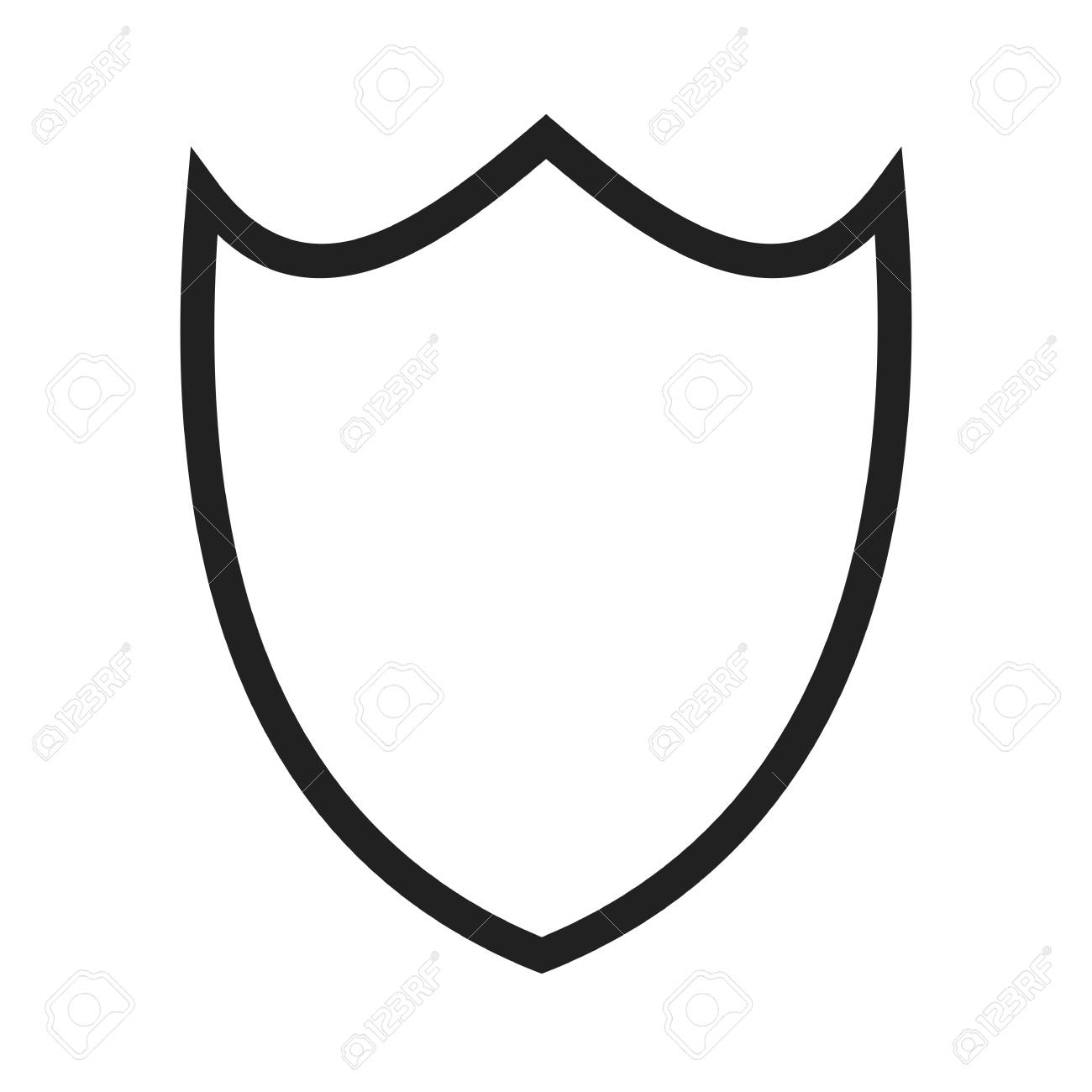 shield security shape icon vector image can also be used for rh 123rf com vector shield image vector shield mounting medium dapi