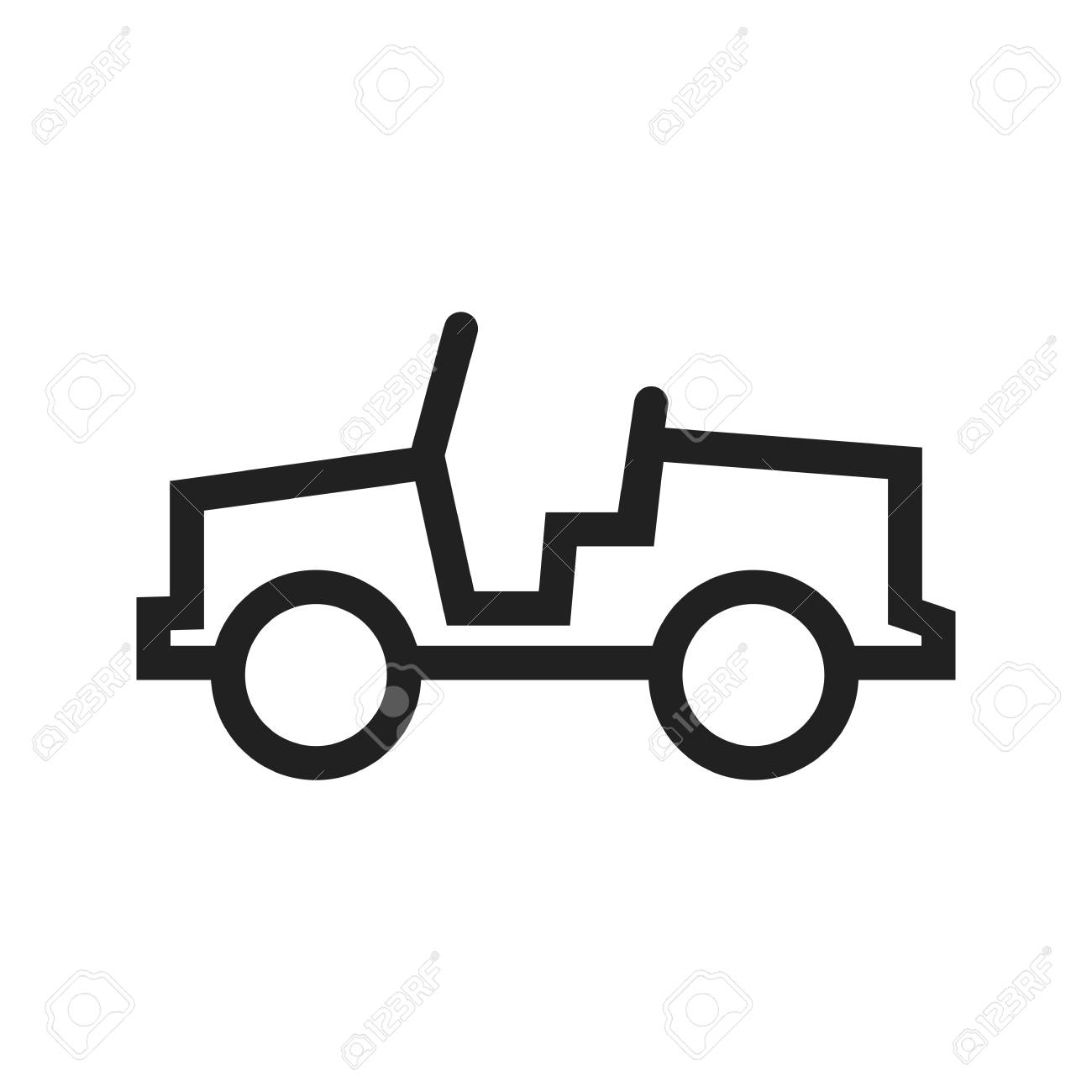 military army jeep icon vector image can also be used for