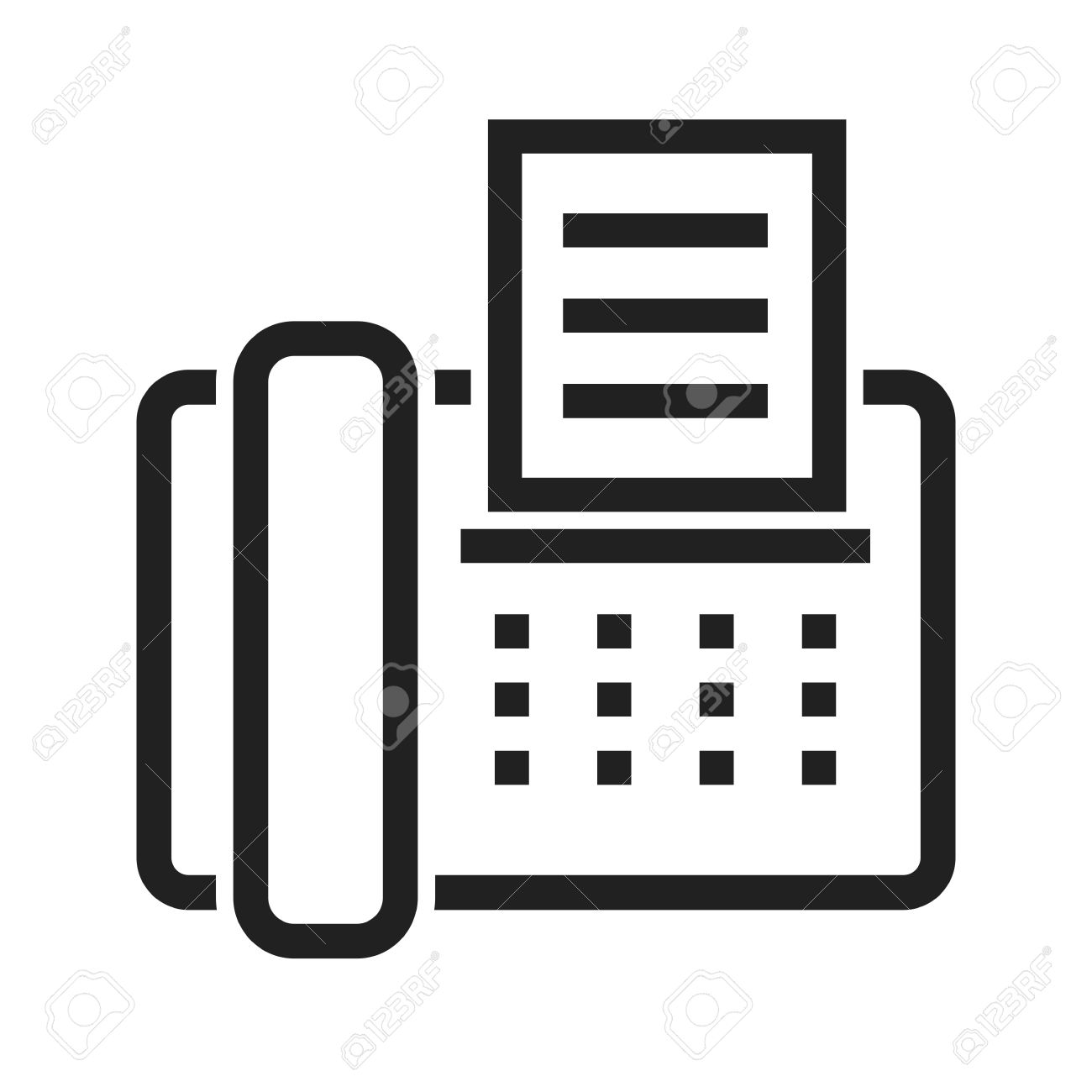 fax machine telephone icon vector image can also be used for royalty free cliparts vectors and stock illustration image 43771391 fax machine telephone icon vector image can also be used for