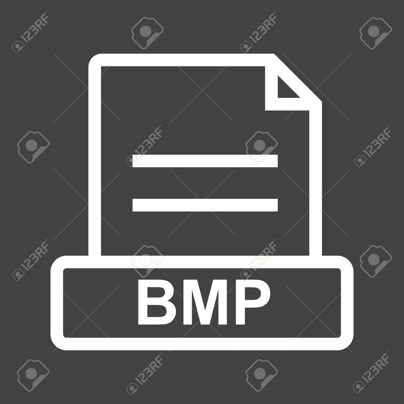 BMP, file, extension icon vector image. Can also be used for file format, design and storage. Suitable for mobile apps, web apps and print media. Stock Vector - 43822886