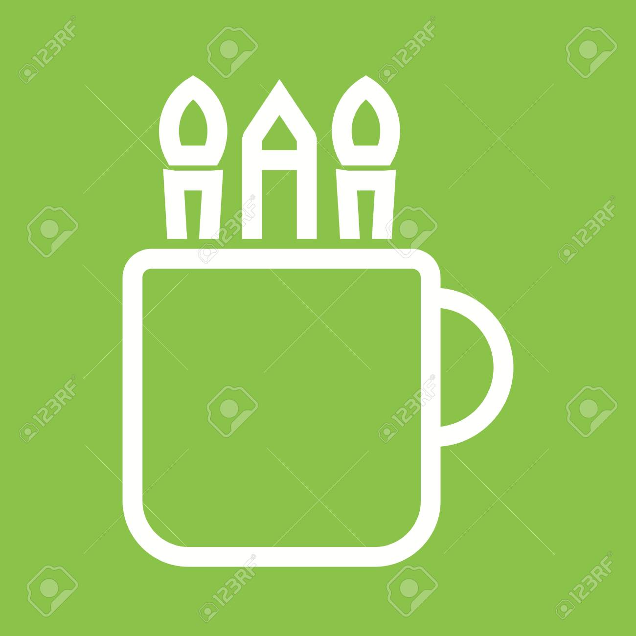 Mug Art Paint Icon Vector Image Royalty Free Cliparts Vectors And Stock Illustration Image 44136204