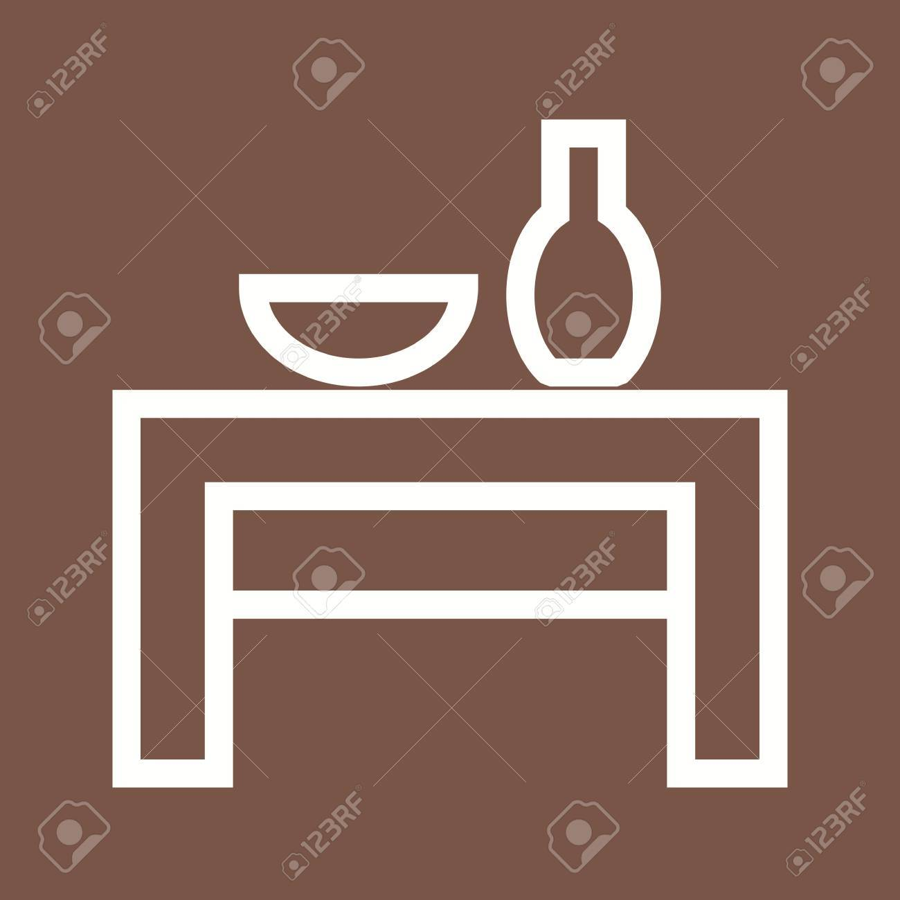 Table Wedding Decoration Icon Vector Imagen Also Be Used