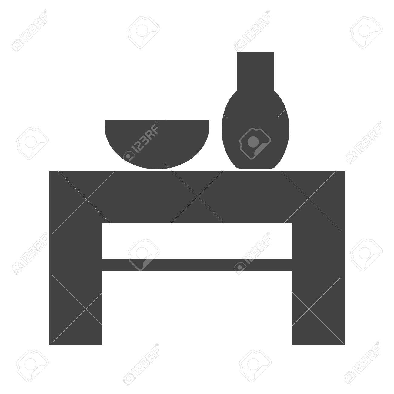 Table wedding decoration icon vector imagen also be used table wedding decoration icon vector imagen also be used for furniture design junglespirit Image collections