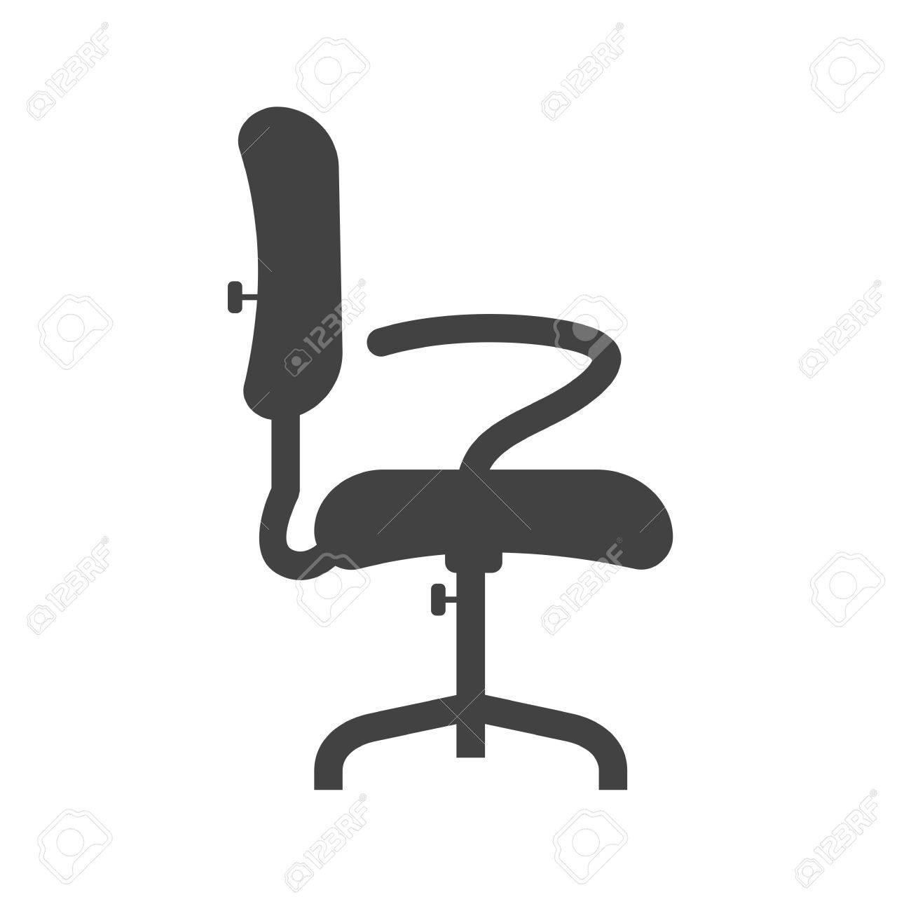 Silla, Oficina, Icono Asiento Vector Image.Can También Ser Utilizado ...
