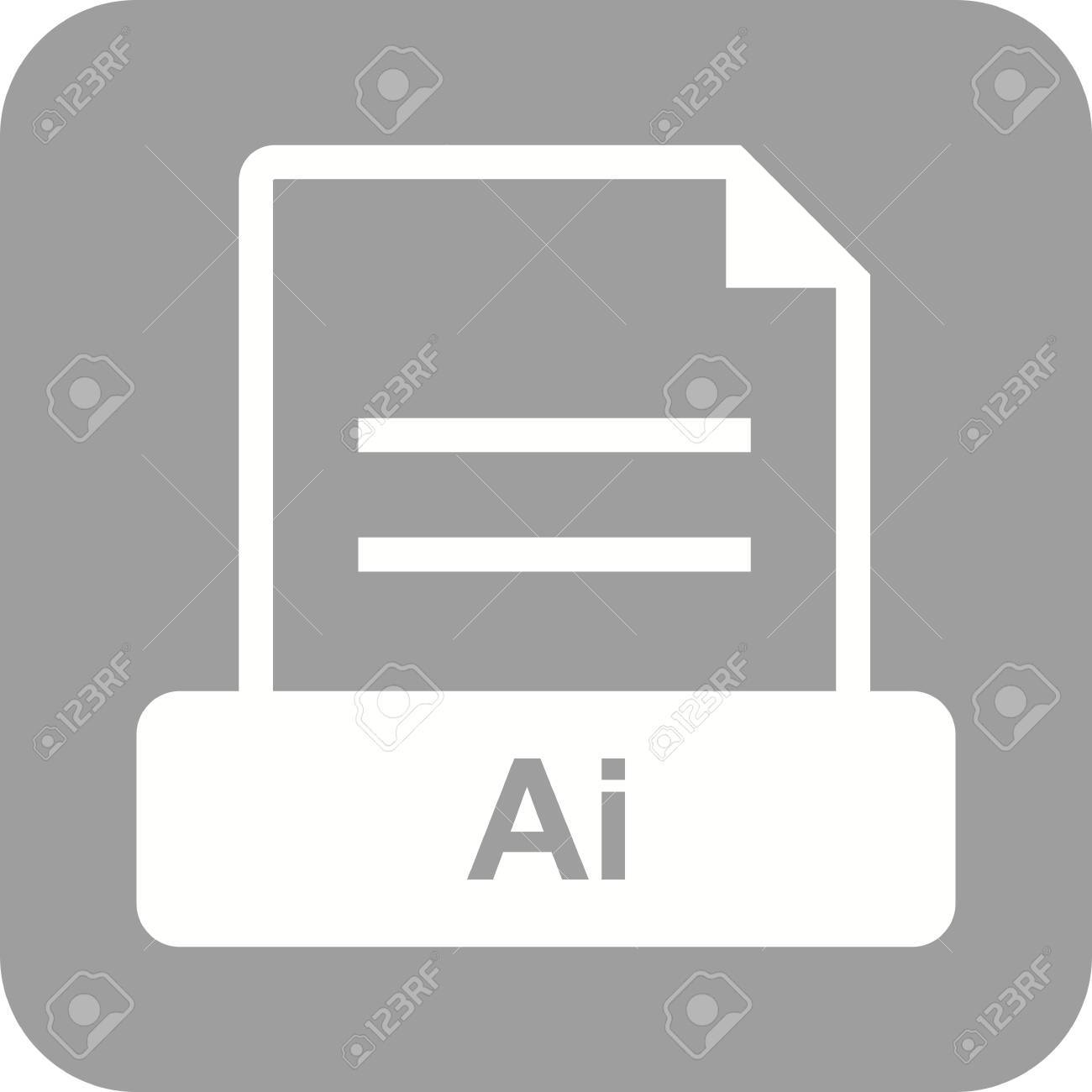 AI, file, extension icon vector image. Can also be used for file format, design and storage. Suitable for mobile apps, web apps and print media. Stock Vector - 44849474