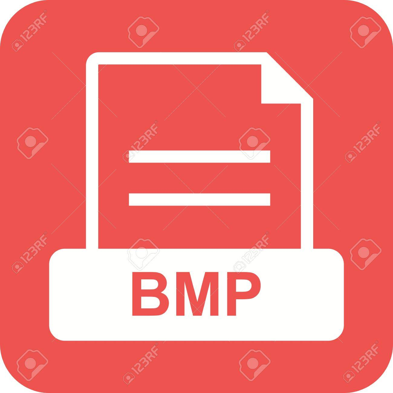 BMP, file, extension icon vector image. Can also be used for file format, design and storage. Suitable for mobile apps, web apps and print media. Stock Vector - 44849494