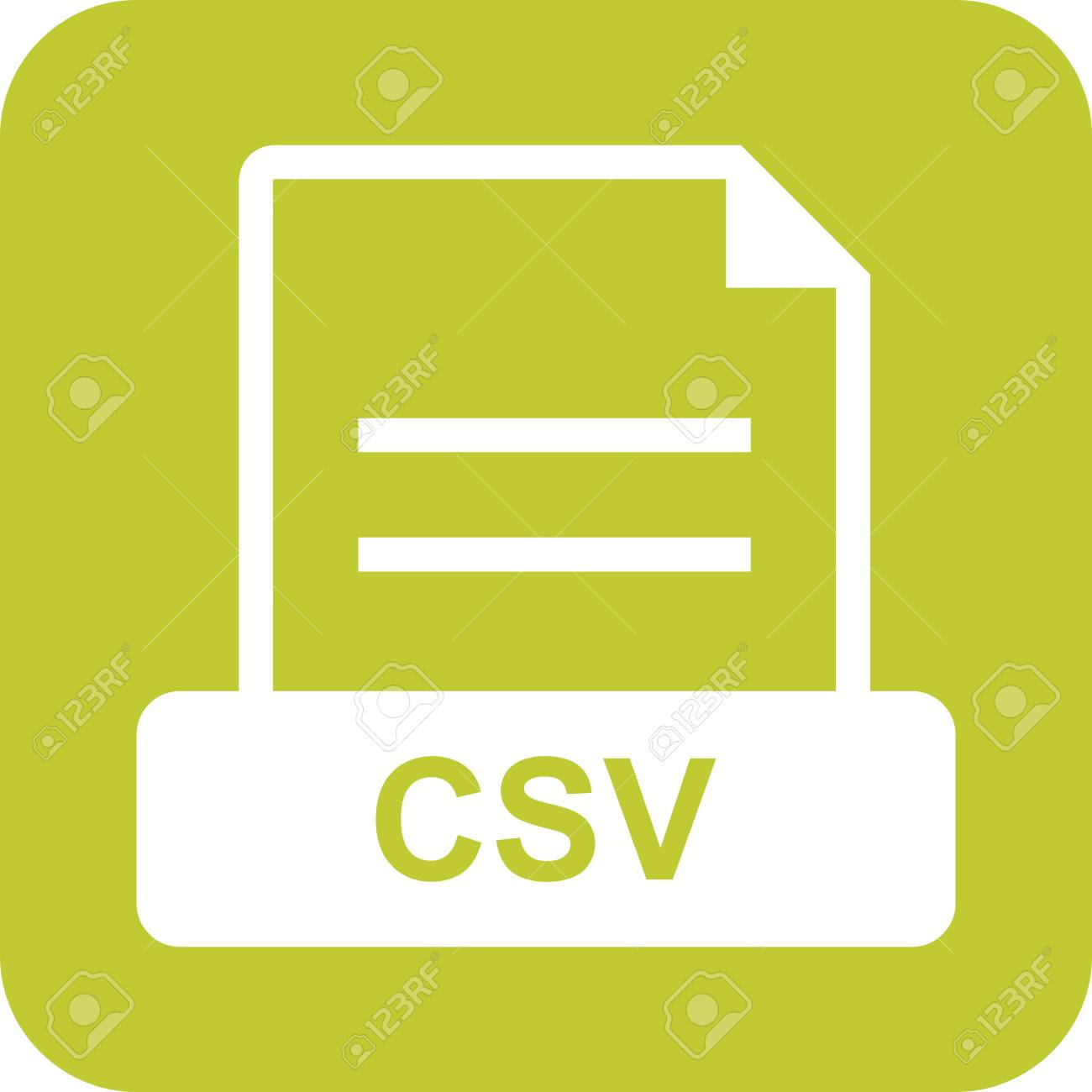 file extension csv icon vector image can also be used for