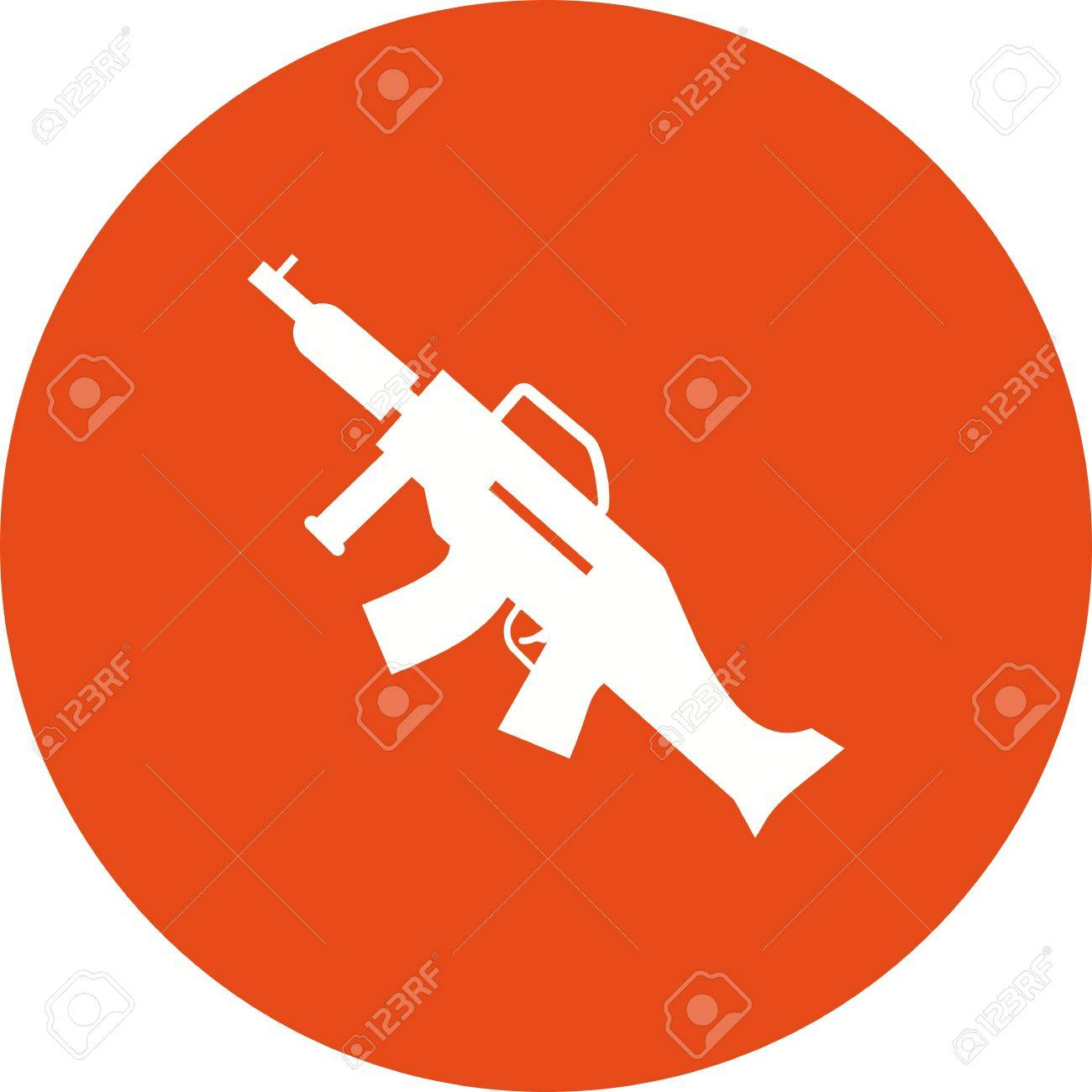 Machine, gun, war, icon vector image  Can also be used for military
