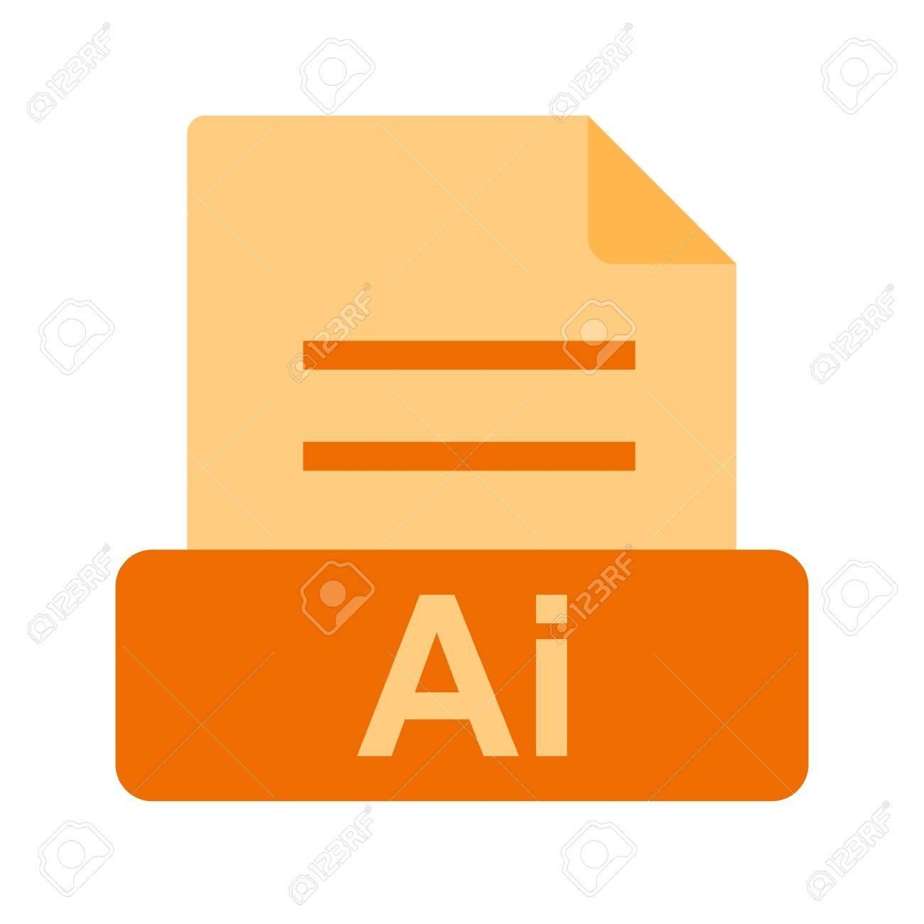 AI file icon Stock Vector - 45612379