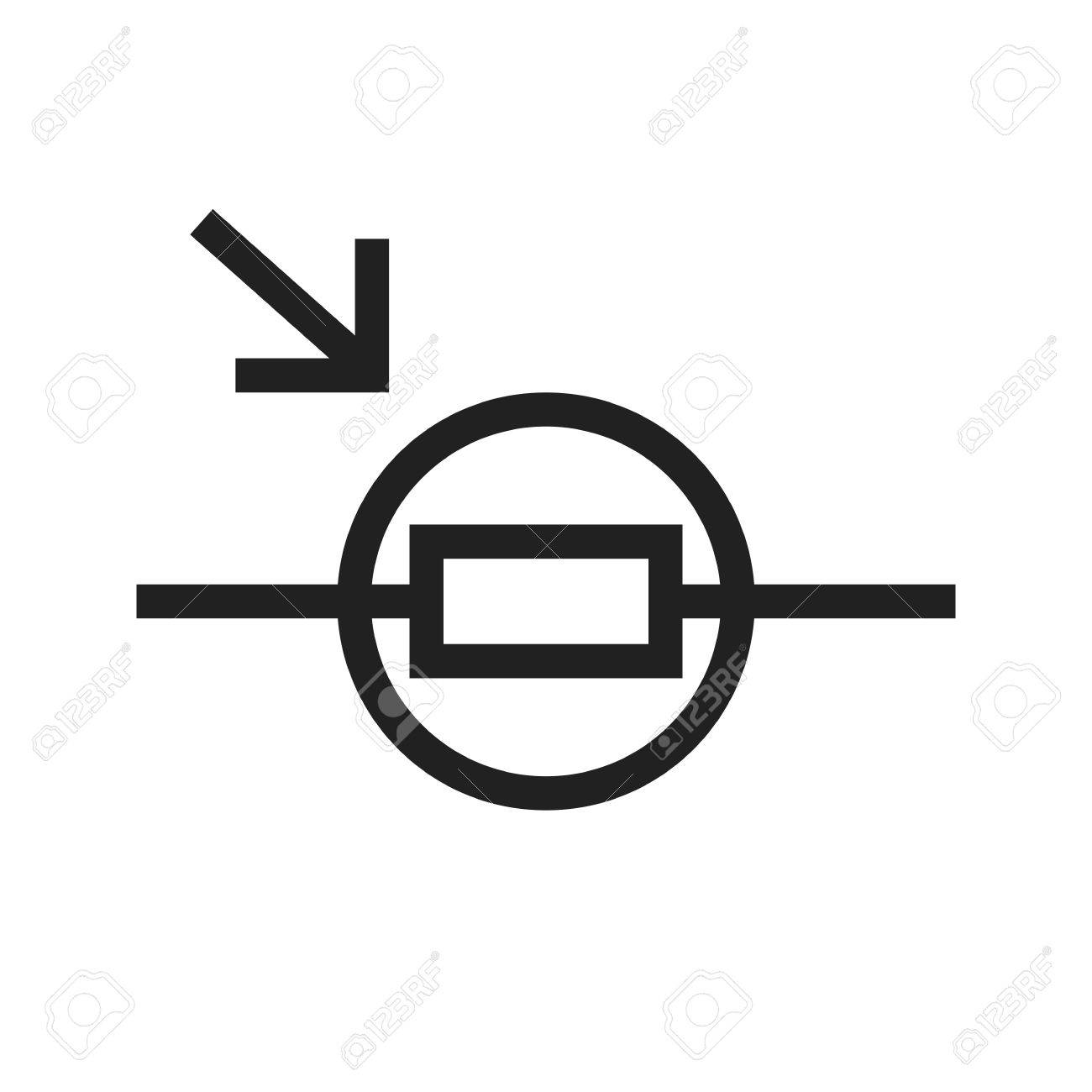 Light, Circuit, Resistor Icon Vector Image. Can Also Be Used ...