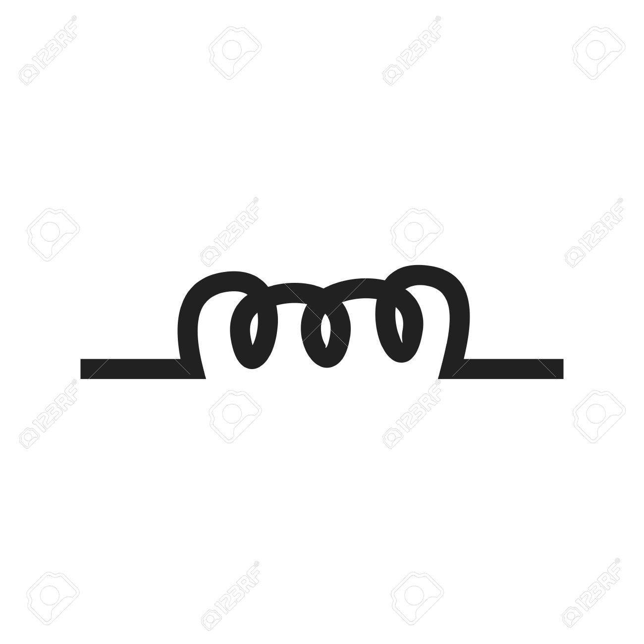 Copper Wire Inductor Icon Vector Image Can Also Be Used For Coils Of Are Commonly In Electrical Inductors Electric Circuits