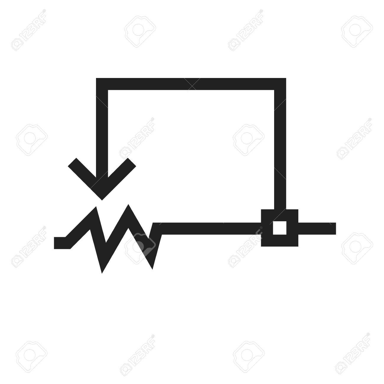 Rheostat, Circuit, Electronic Icon Vector Image. Can Also Be ...