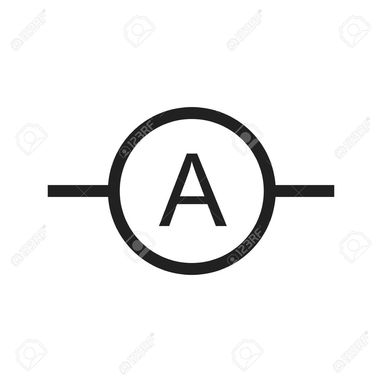 Ammeter, Meter, Elektriker-Symbol Vektor-Bild. Kann Auch Für ...