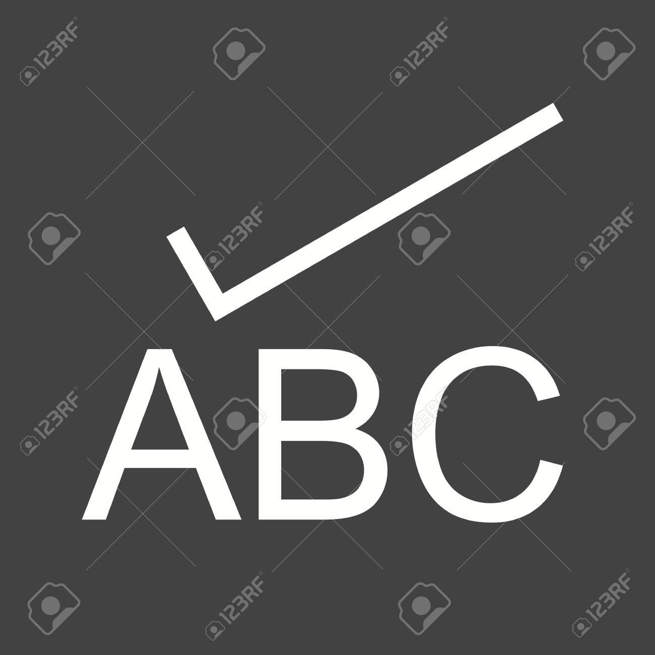 Check, spell, spelling icon vector image Can also be used for