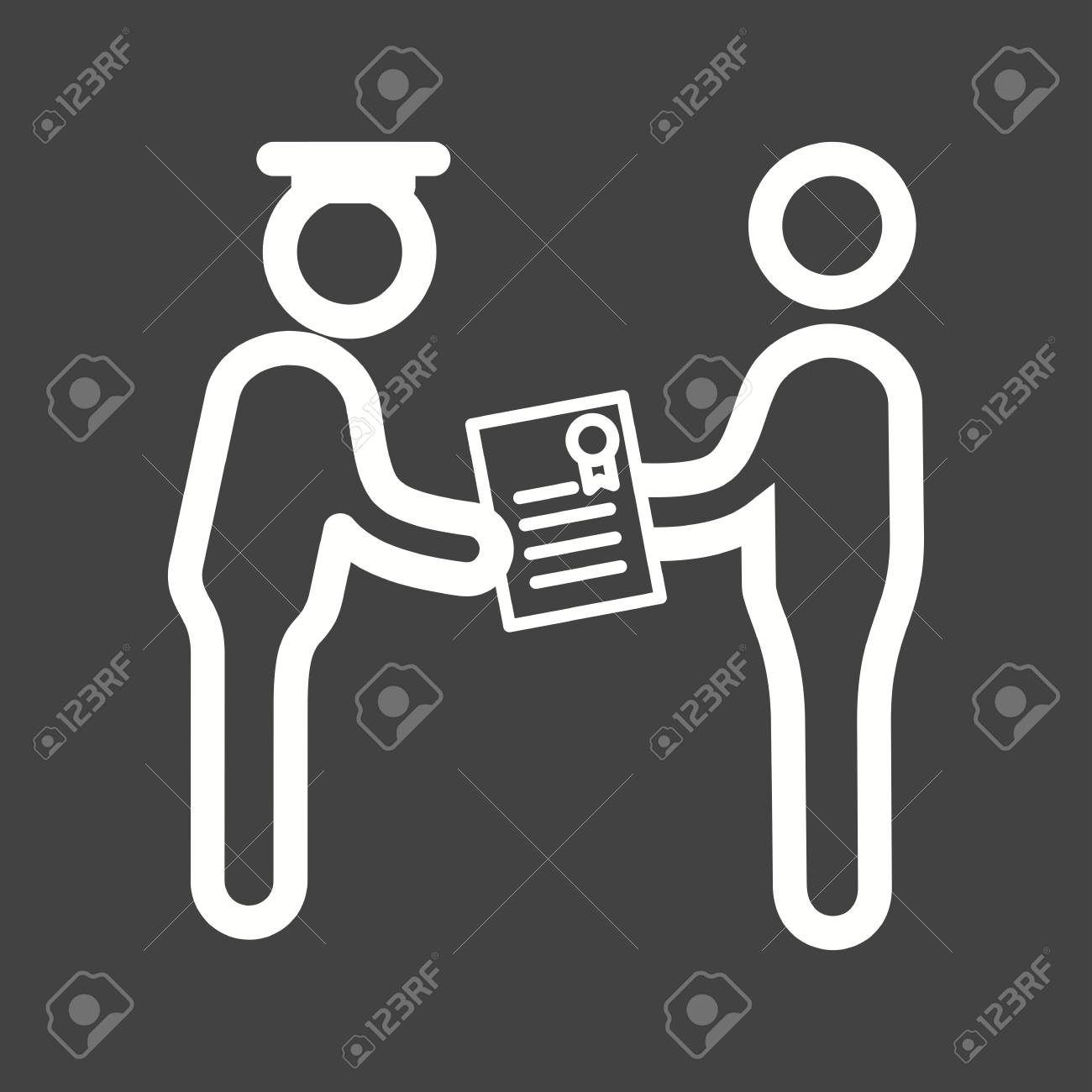 Diploma Student School Icon Vector Image Can Also Be Used