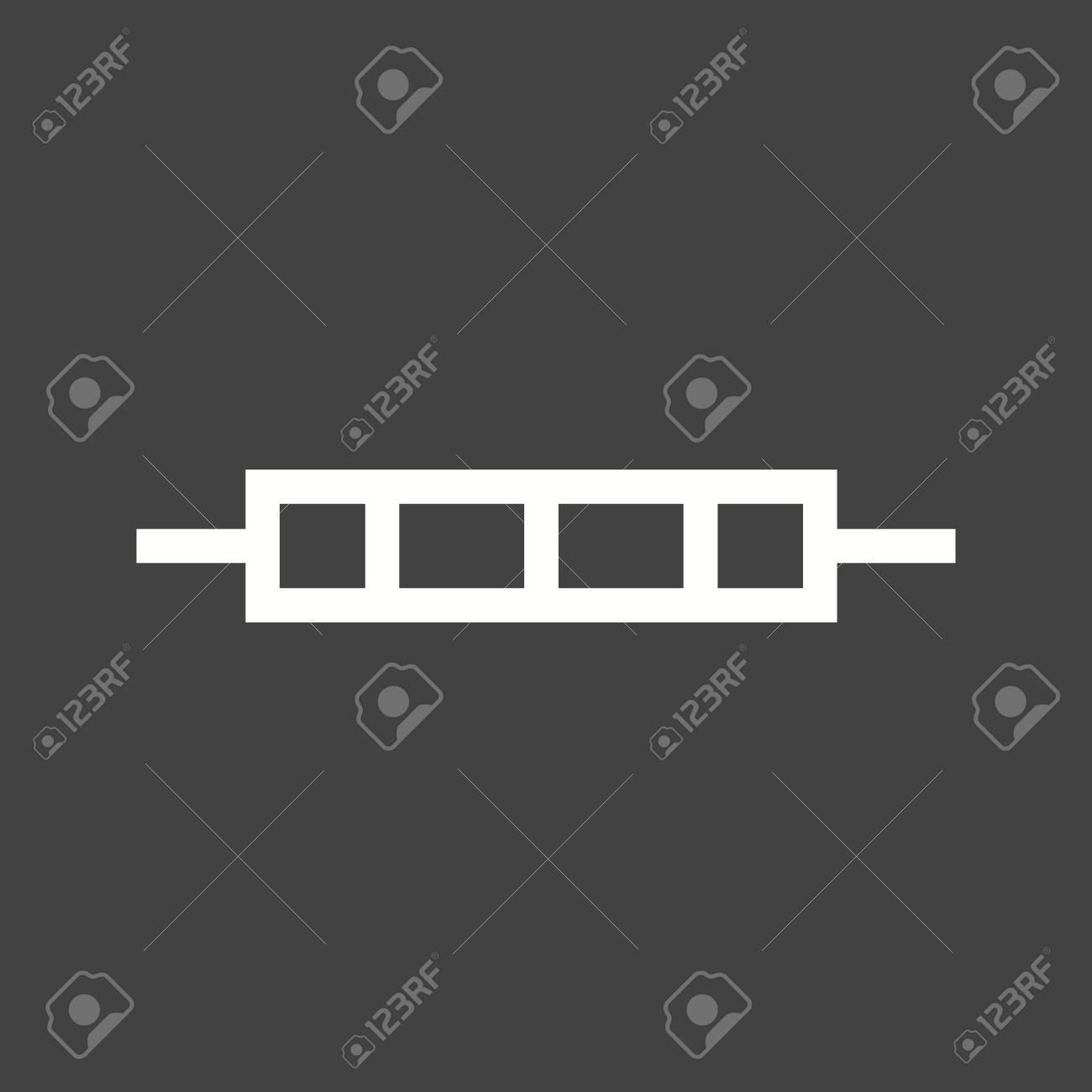 Heizung, Element, Elektrische Symbol Vektor-Bild. Kann Auch Für ...