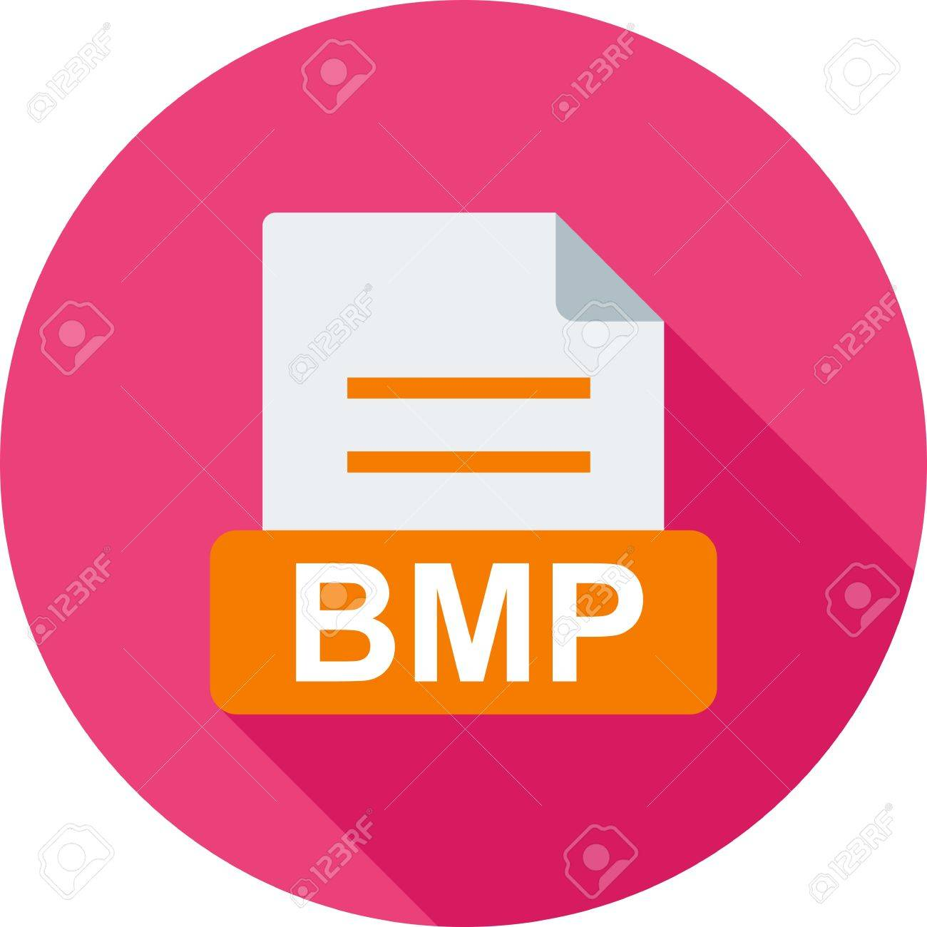 BMP, file, extension icon vector image. Can also be used for file format, design and storage. Suitable for mobile apps, web apps and print media. Stock Vector - 52060600