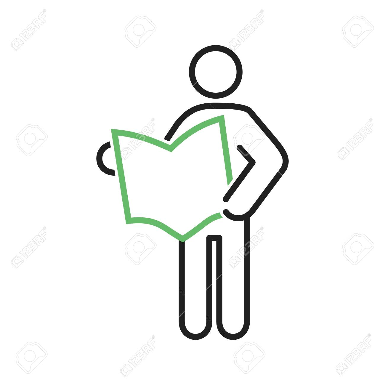 reading, newspaper, book icon vector image. can also be used.. stock