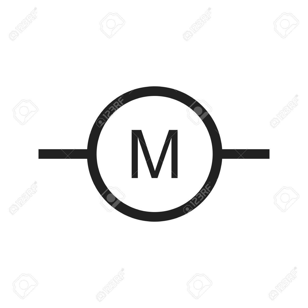 Motor, Elektro-Industrie-Symbol Vektor-Bild. Kann Auch Für ...