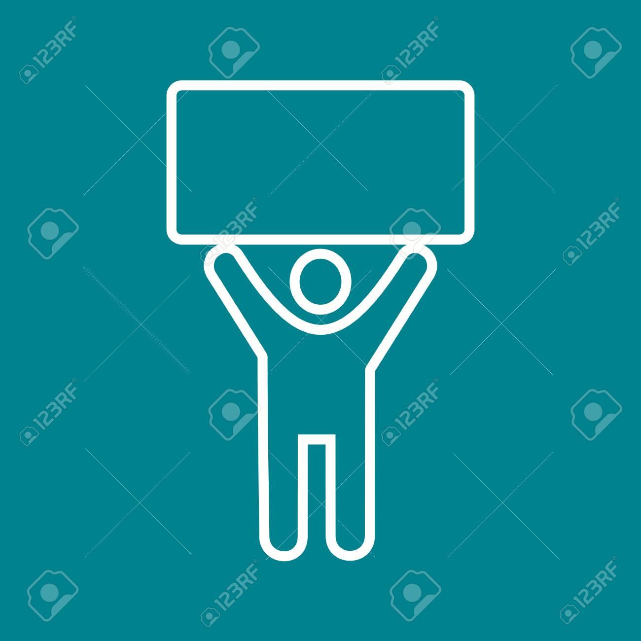 Halter, Zeichen, Stift-Symbol Vektor-Bild. Kann Auch Für Menschen ...