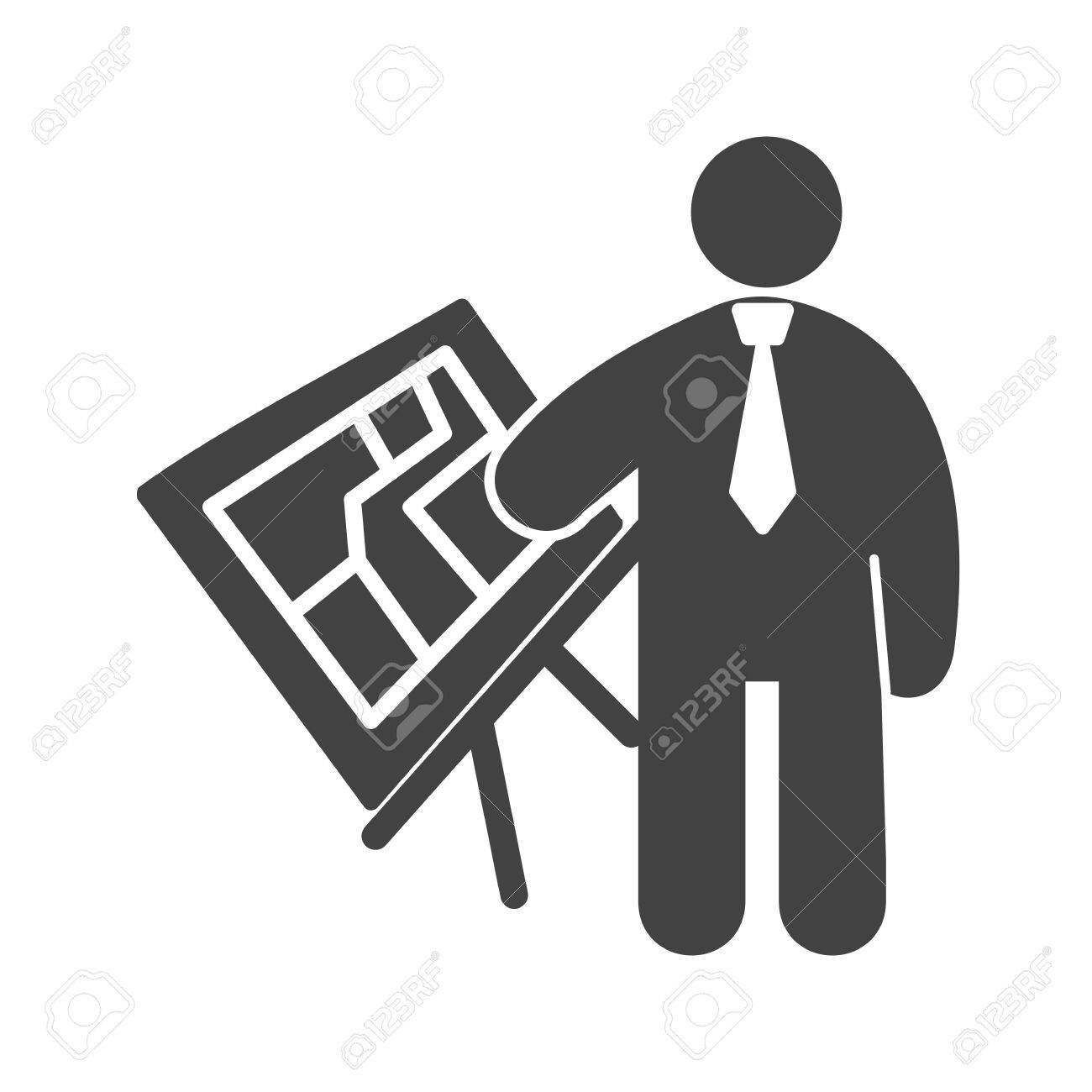 Plan De Travail Mobile architect, plan, working icon vector image. can also be used..