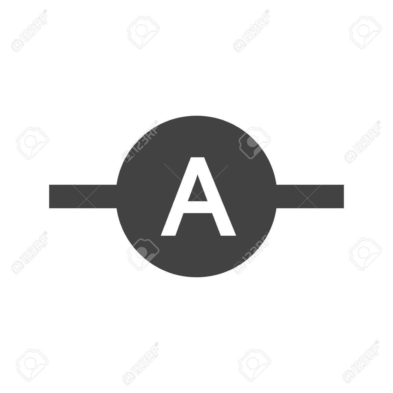 Ammeter, Meter, Electrician Icon Vector Image. Can Also Be Used ...