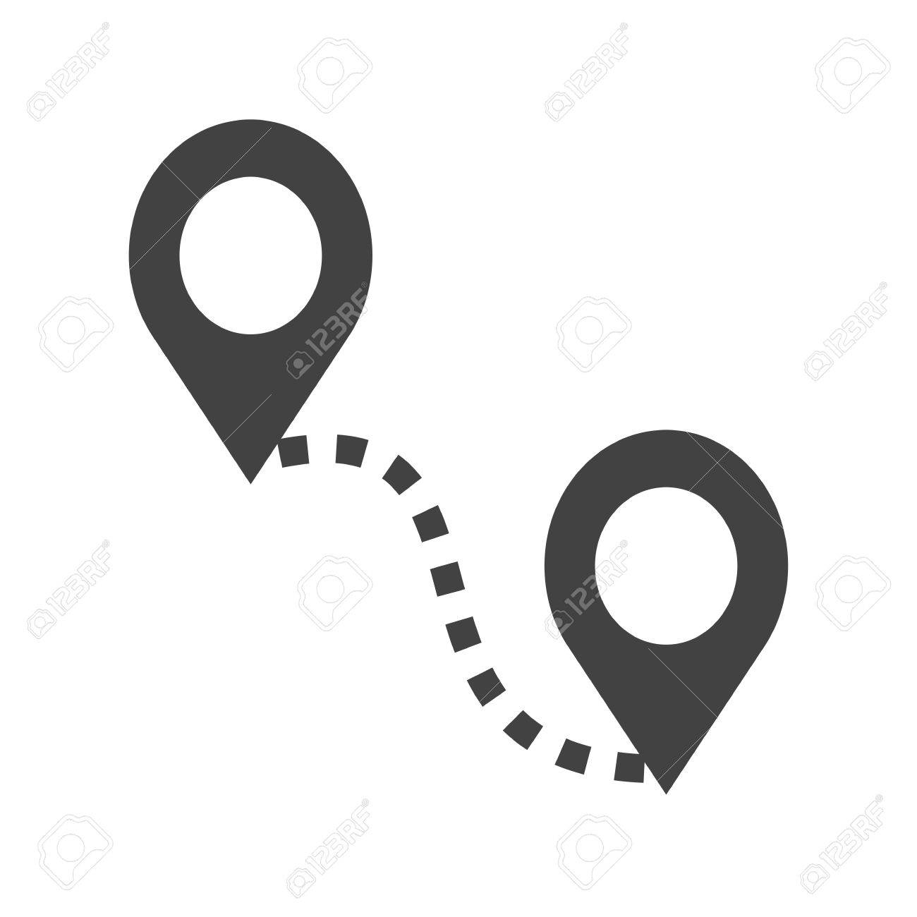 distance road adventure icon vector imagecan also be used for maps