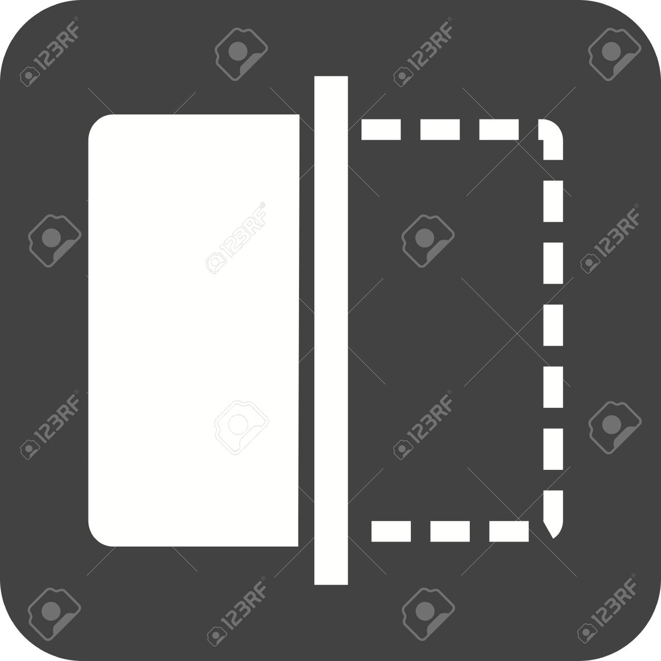 Flip, Image, Frame Icon Vector Image. Can Also Be Used For Picture ...