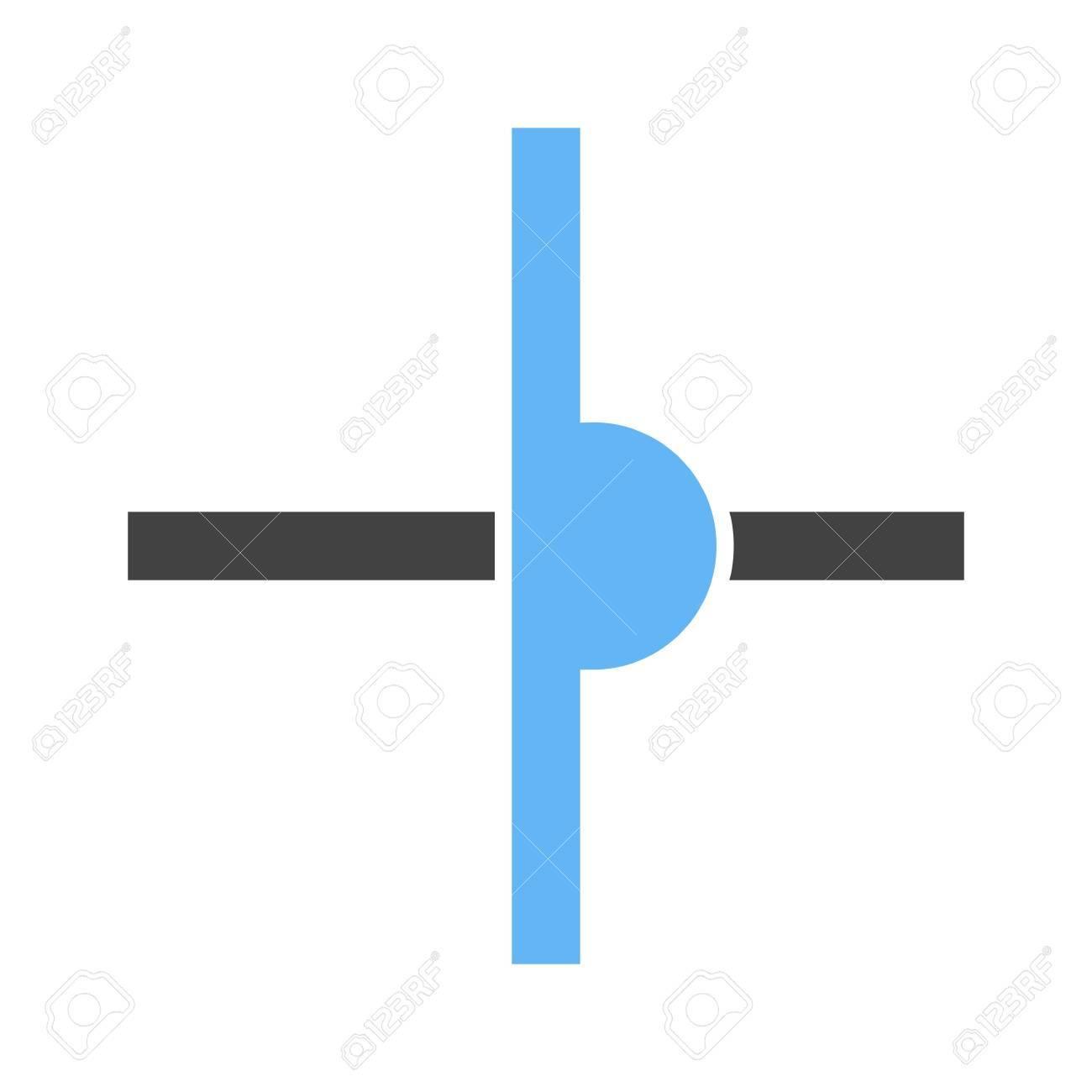 Strom, Draht, Gekreuzt Symbol Vektor-Bild. Kann Auch Für Elektrische ...