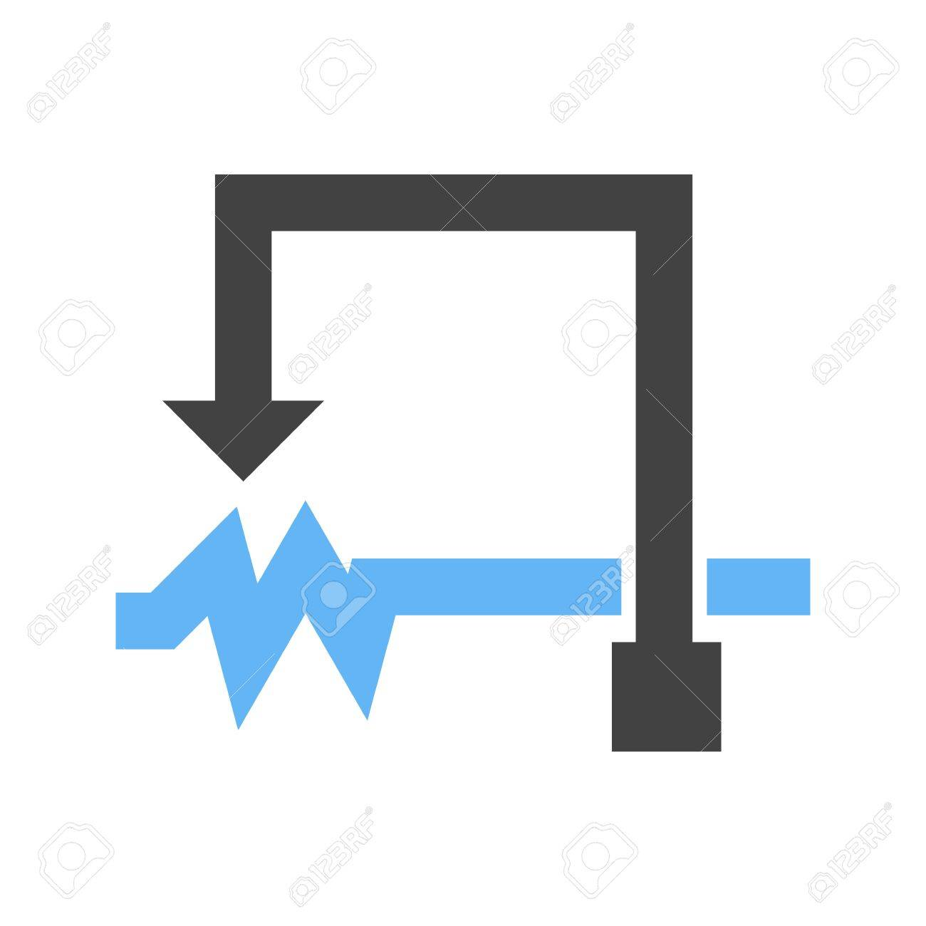Famous Symbol Of Potentiometer Festooning Microsoft Value Chain Circuit Diagram Rheostat Fine For Images Simple Wiring 53300463 Electronic Icon Vector Image