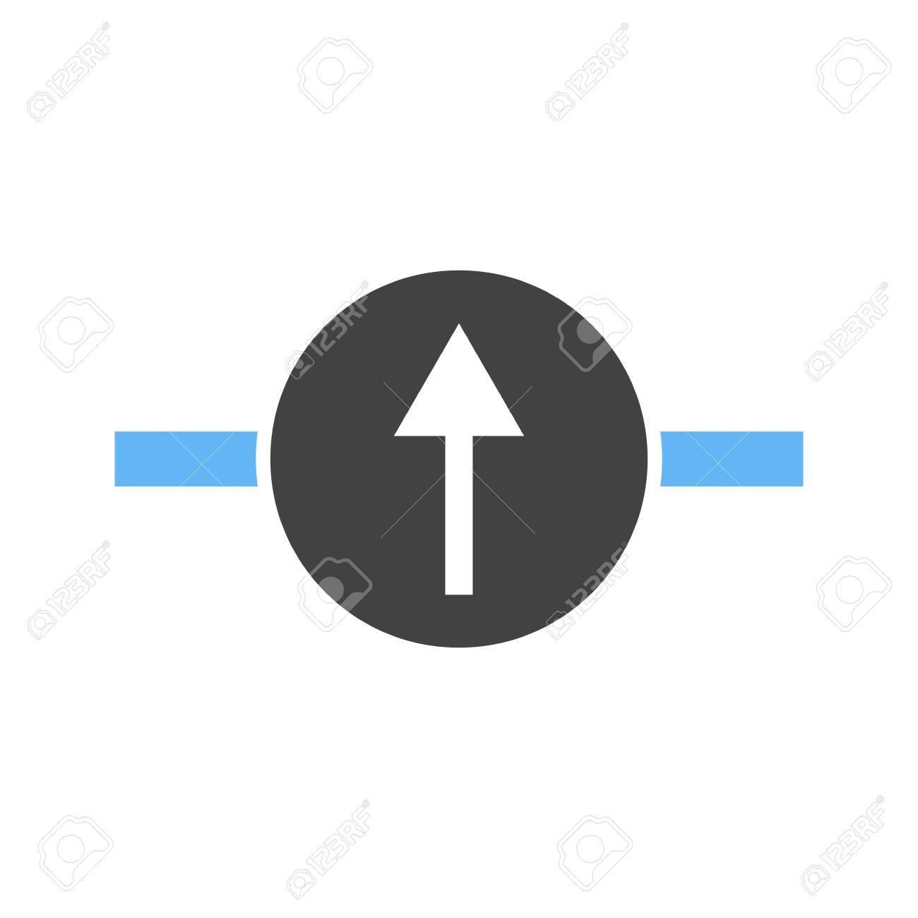 Galvanometer, Wissenschaft, Elektrische Symbol Vektor-Bild. Kann ...