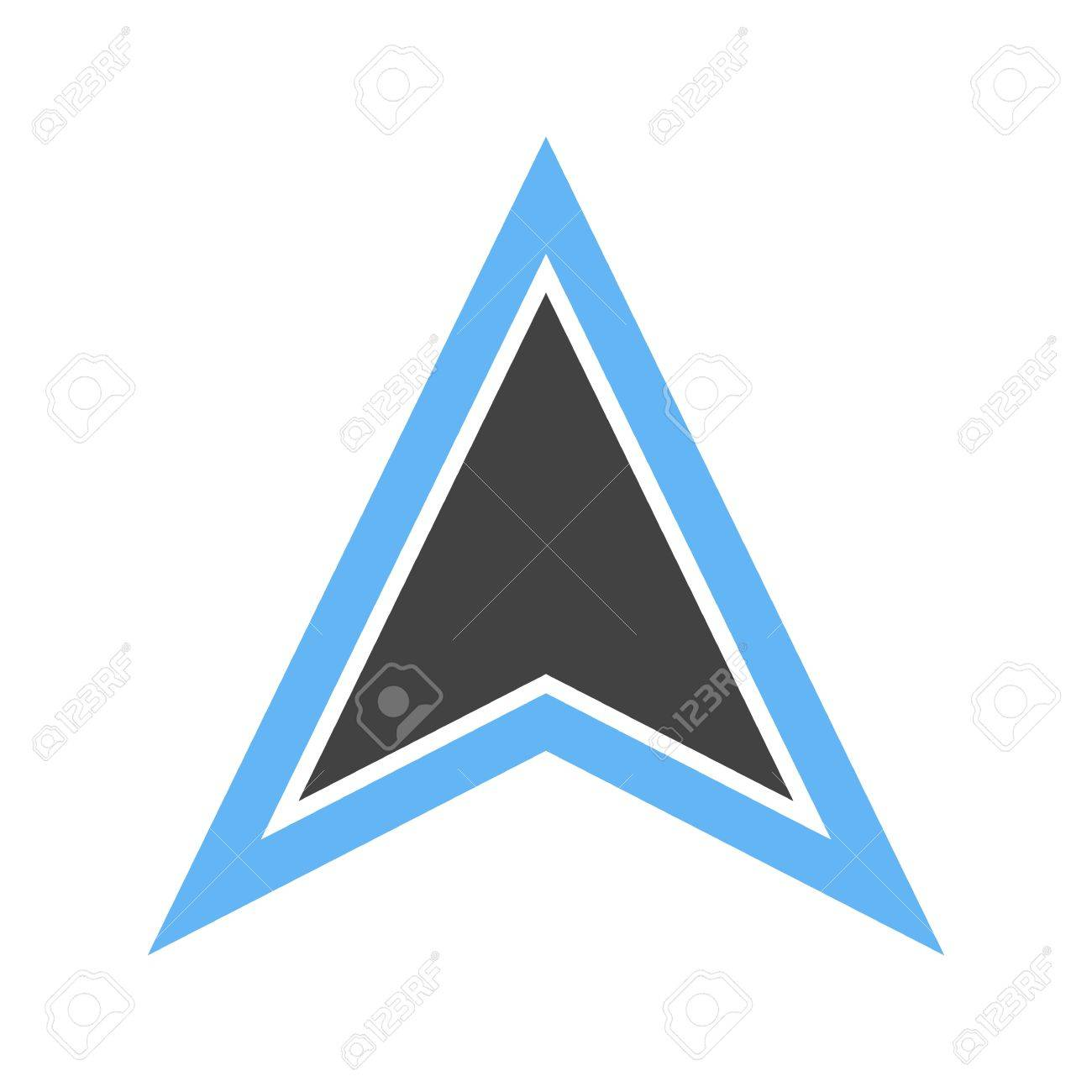 Pointer, arrow, map icon vector image Can also be used for maps