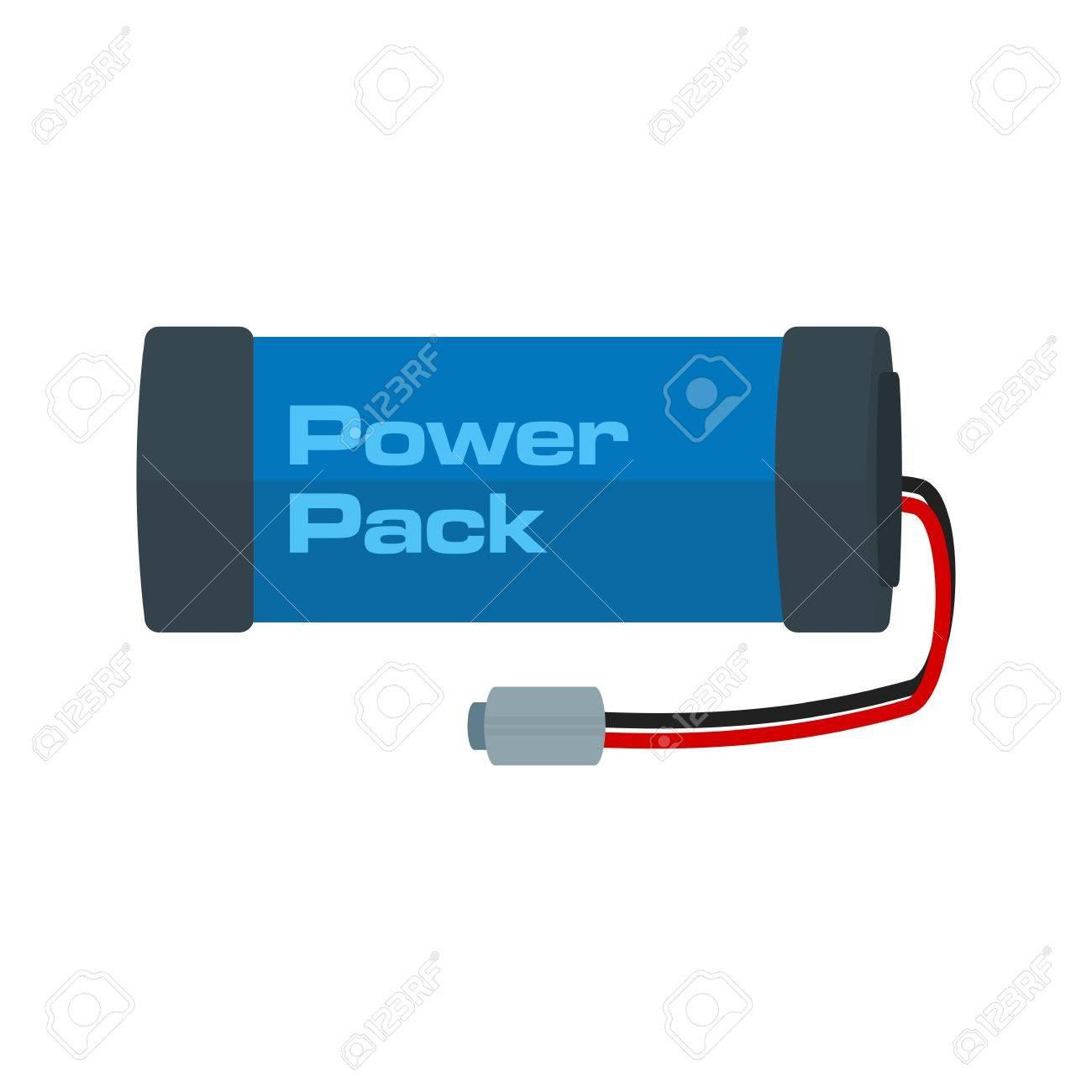 Electric, Quelle, Batterie-Symbol Vektor-Bild. Kann Auch Für ...