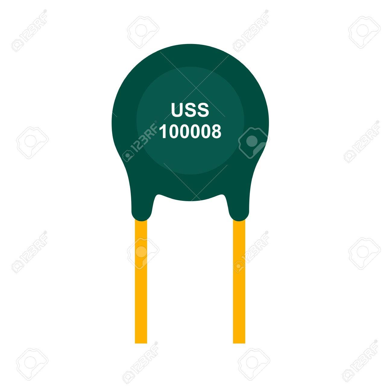 Thermistor, Resistor, Ohms Icon Vector Image. Can Also Be Used ...