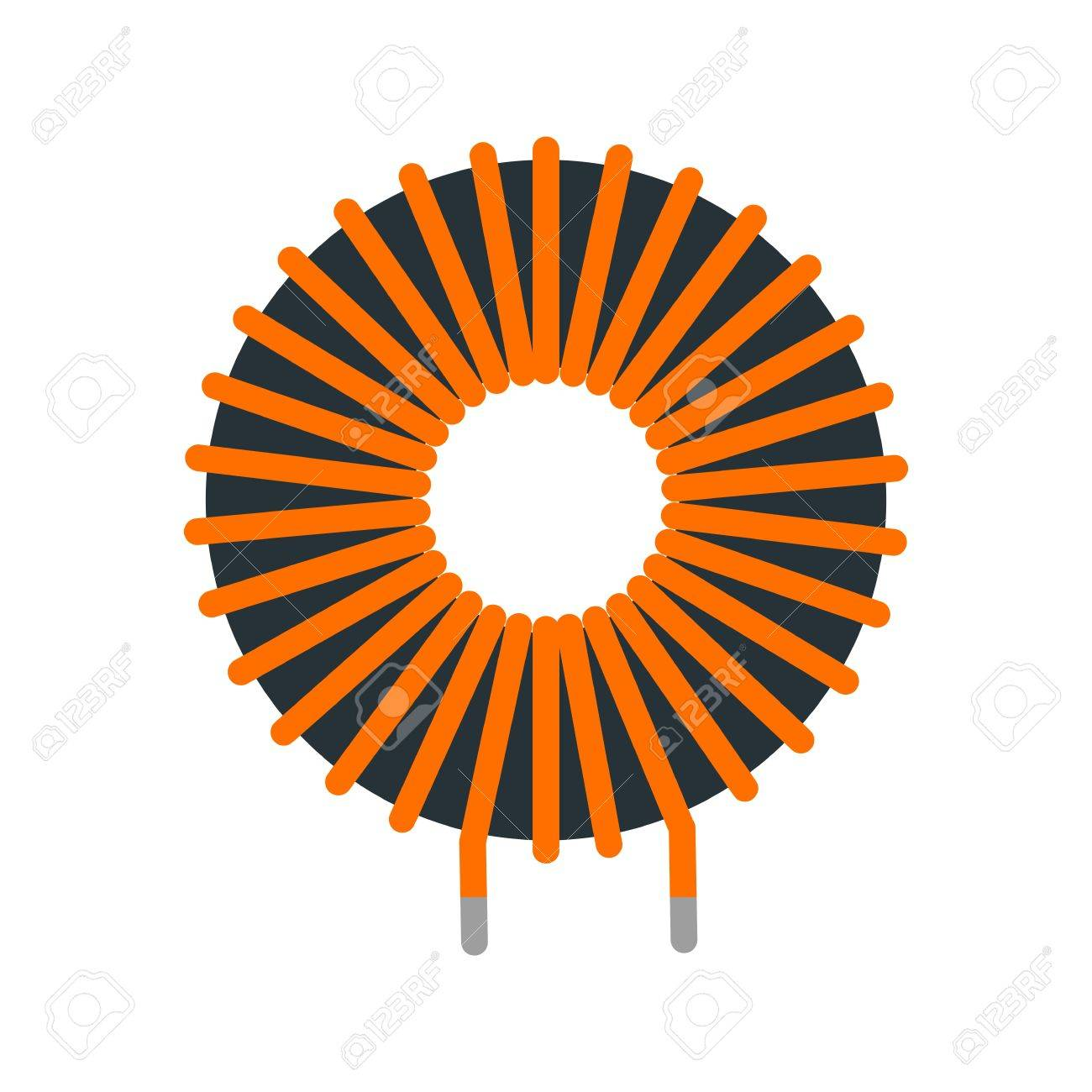 Kupfer, Draht, Induktor Symbol Vektor-Bild. Kann Auch Für ...