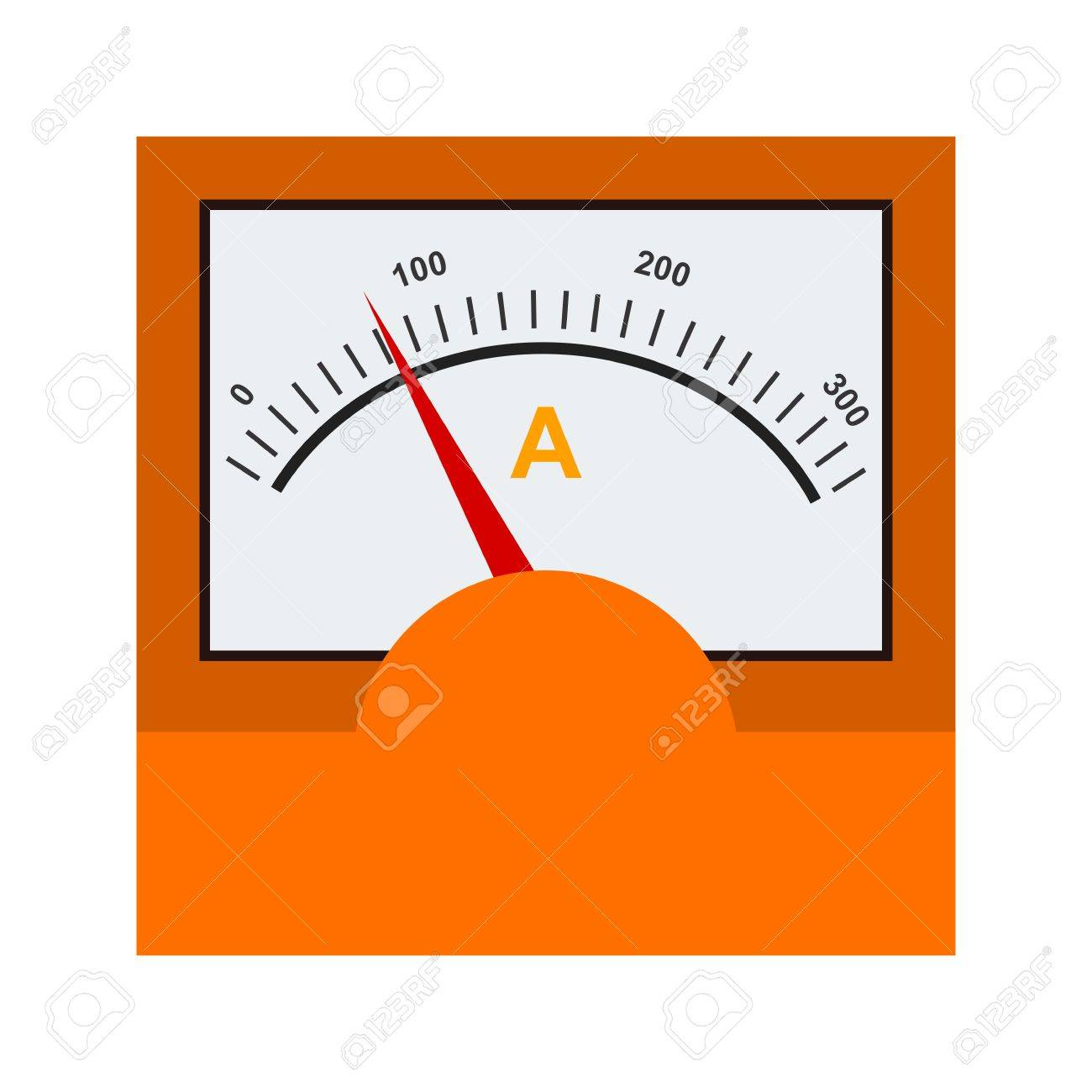Ammeter Meter Electrician Icon Vector Image Can Also Be Used Amp Circuit For Electric Circuits