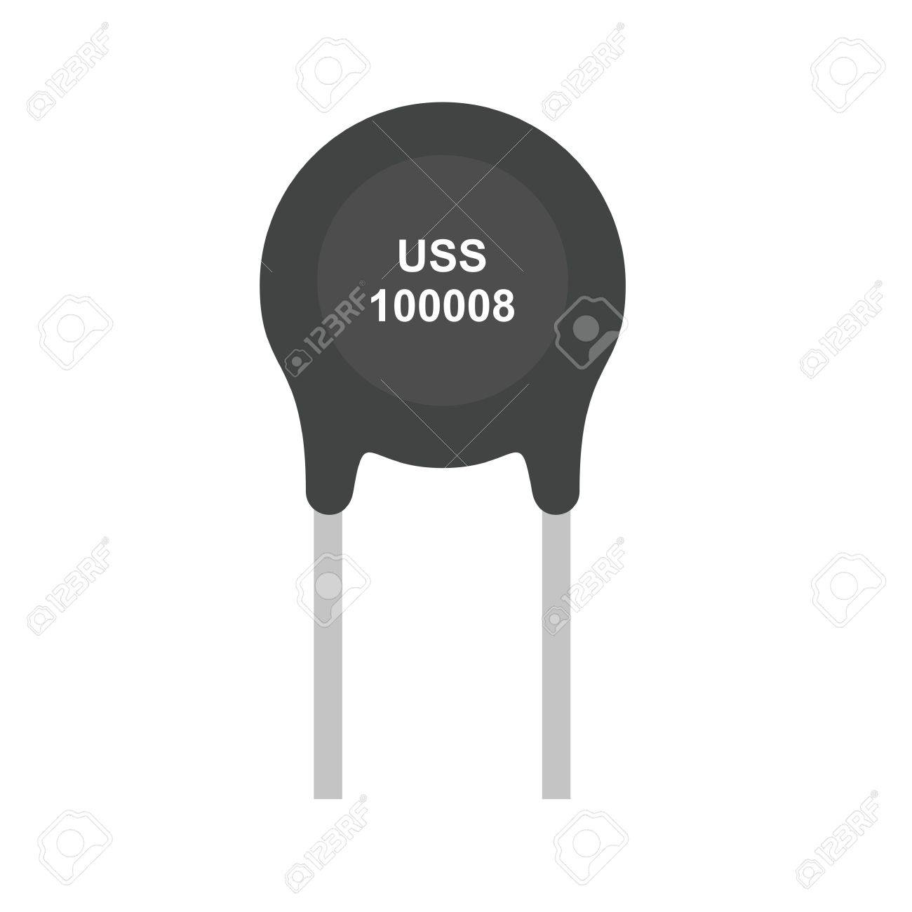 Thermistor Resistor Ohms Icon Vector Image Can Also Be Used Circuit For Electric Circuits