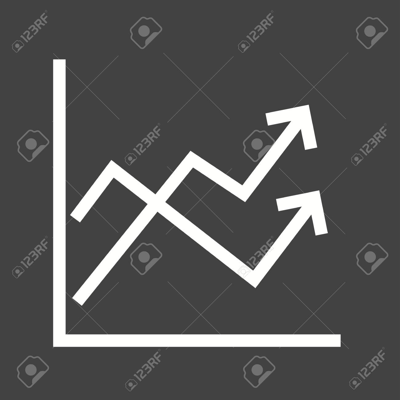 Graph, mathematical, function icon vector image  Can also be