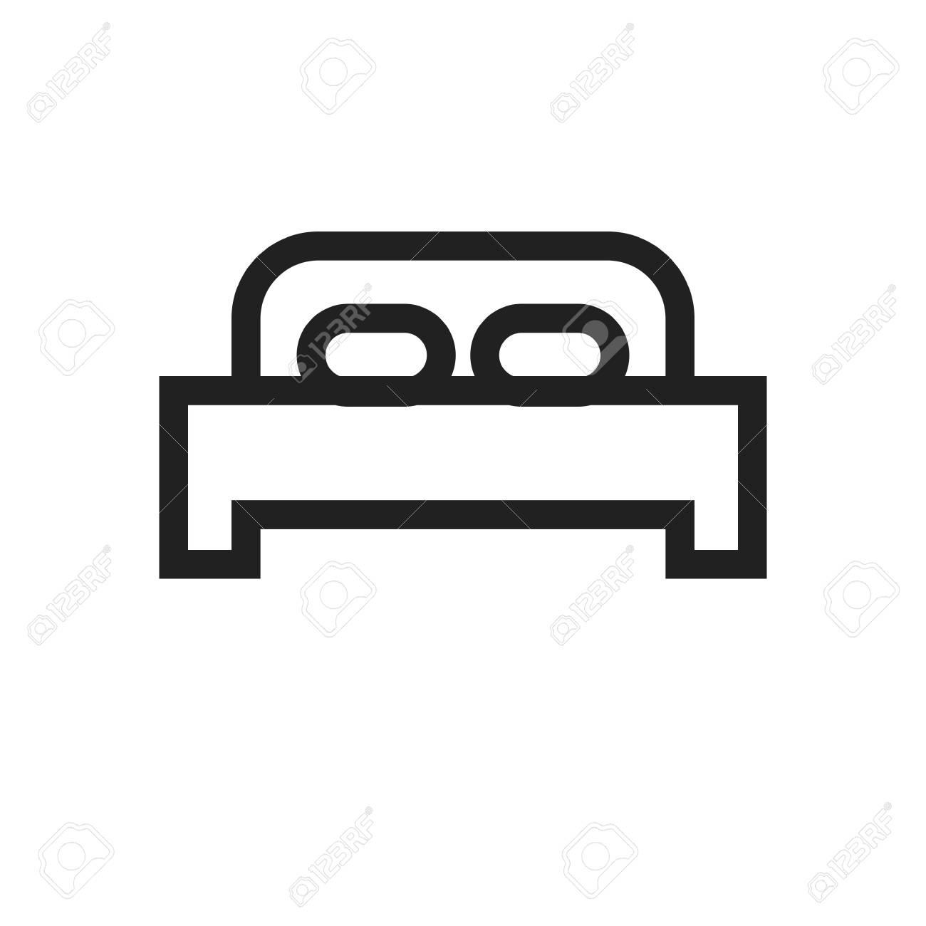 Bed Mattress Bedroom Icon Vector Image Can Also Be Used For
