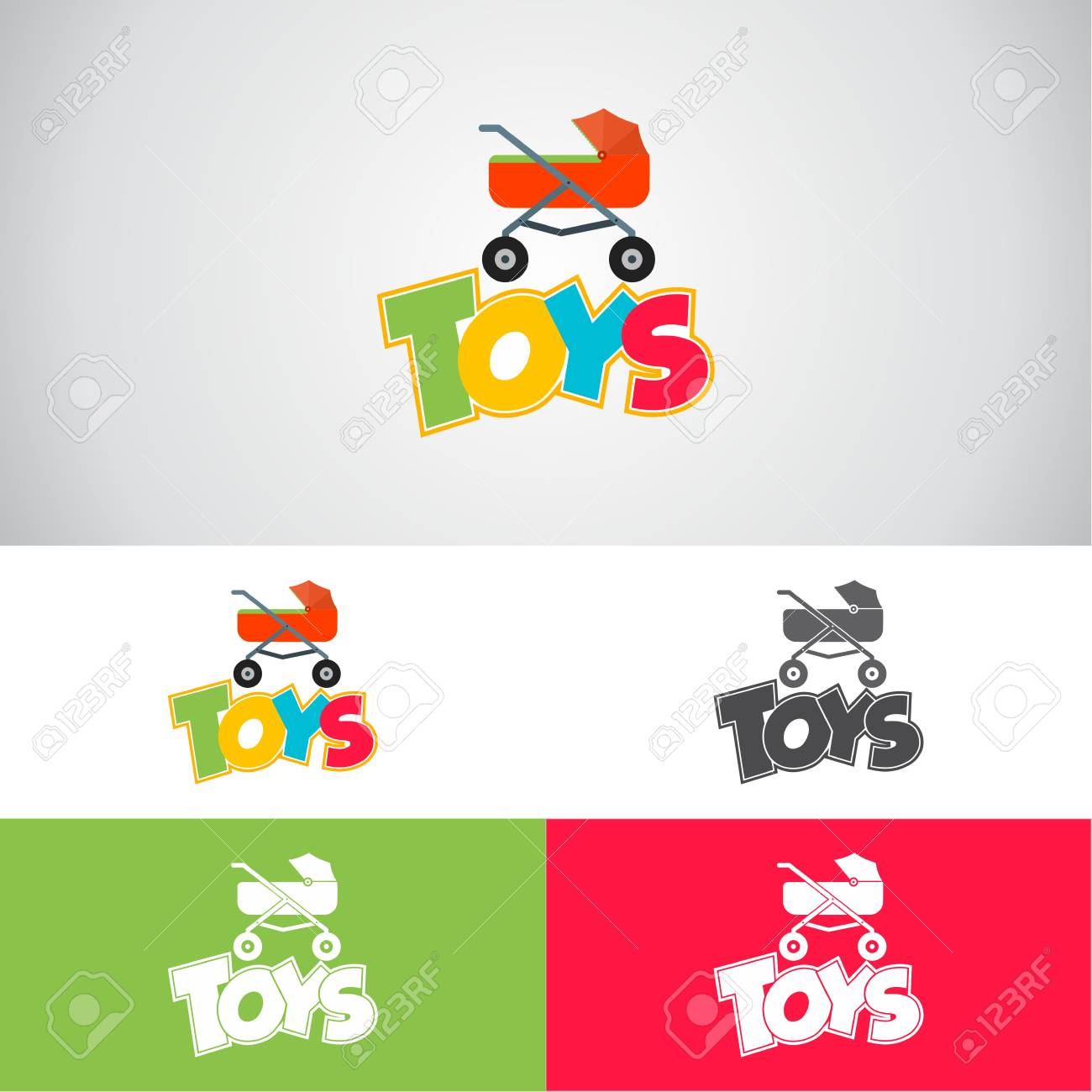 Baby Toys Logo Vector Illustration Royalty Free Cliparts Vectors