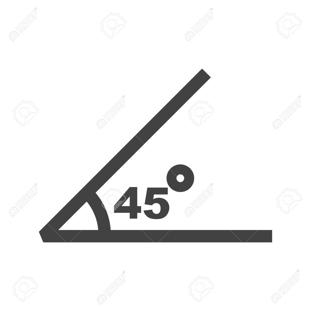 Math Geometry Angle Icon Vector Image Can Also Be Used For Math