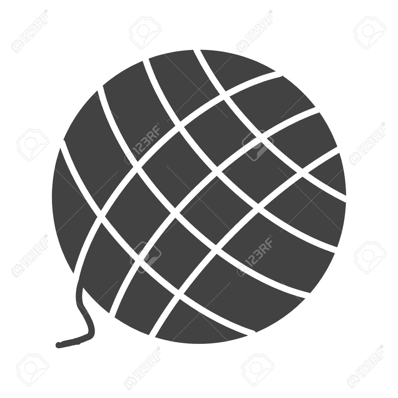 Yarn, wool, knitting icon vector image  Can also be used for