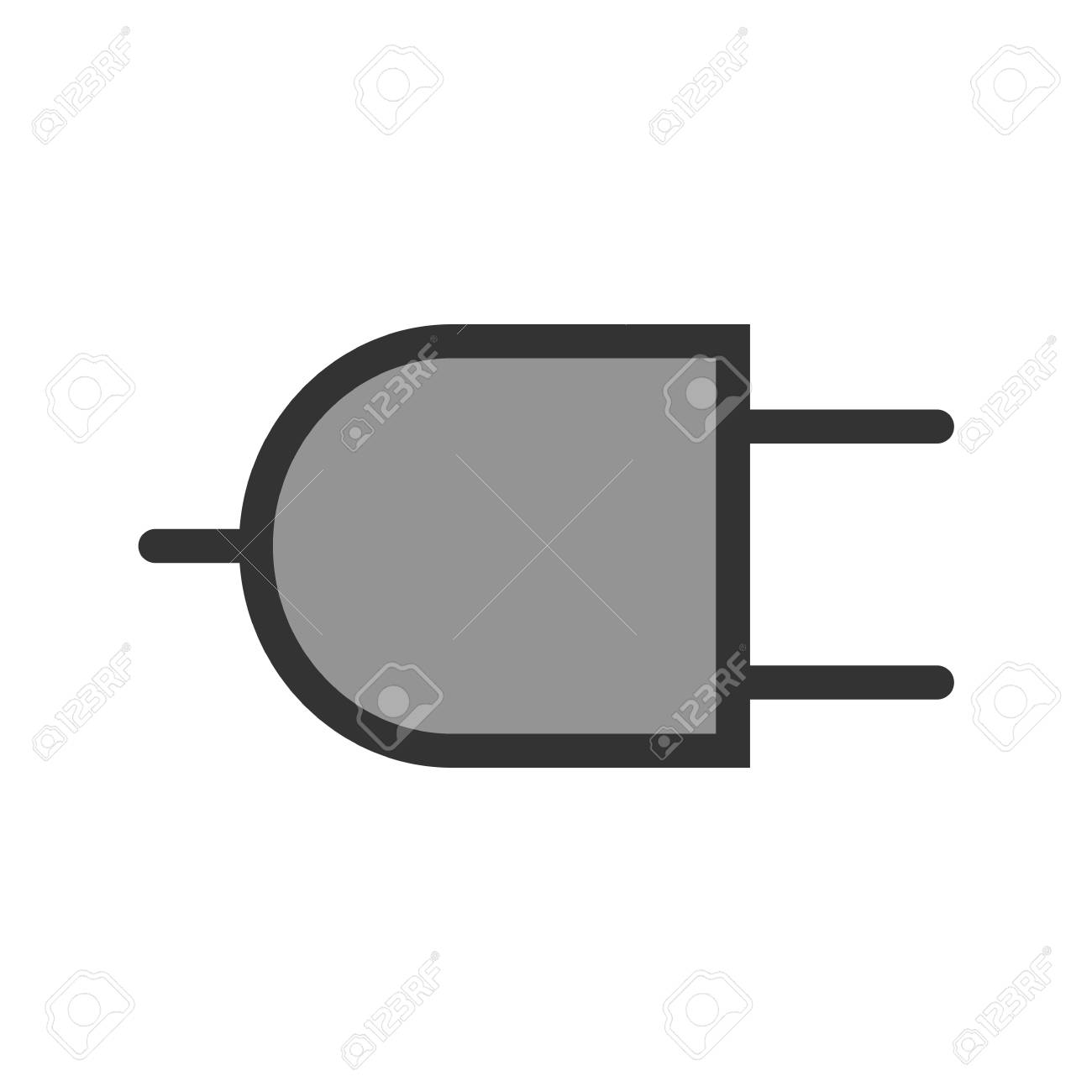 Plug, Wire, Two Pin Socket Icon Image. Can Also Be Used For ...