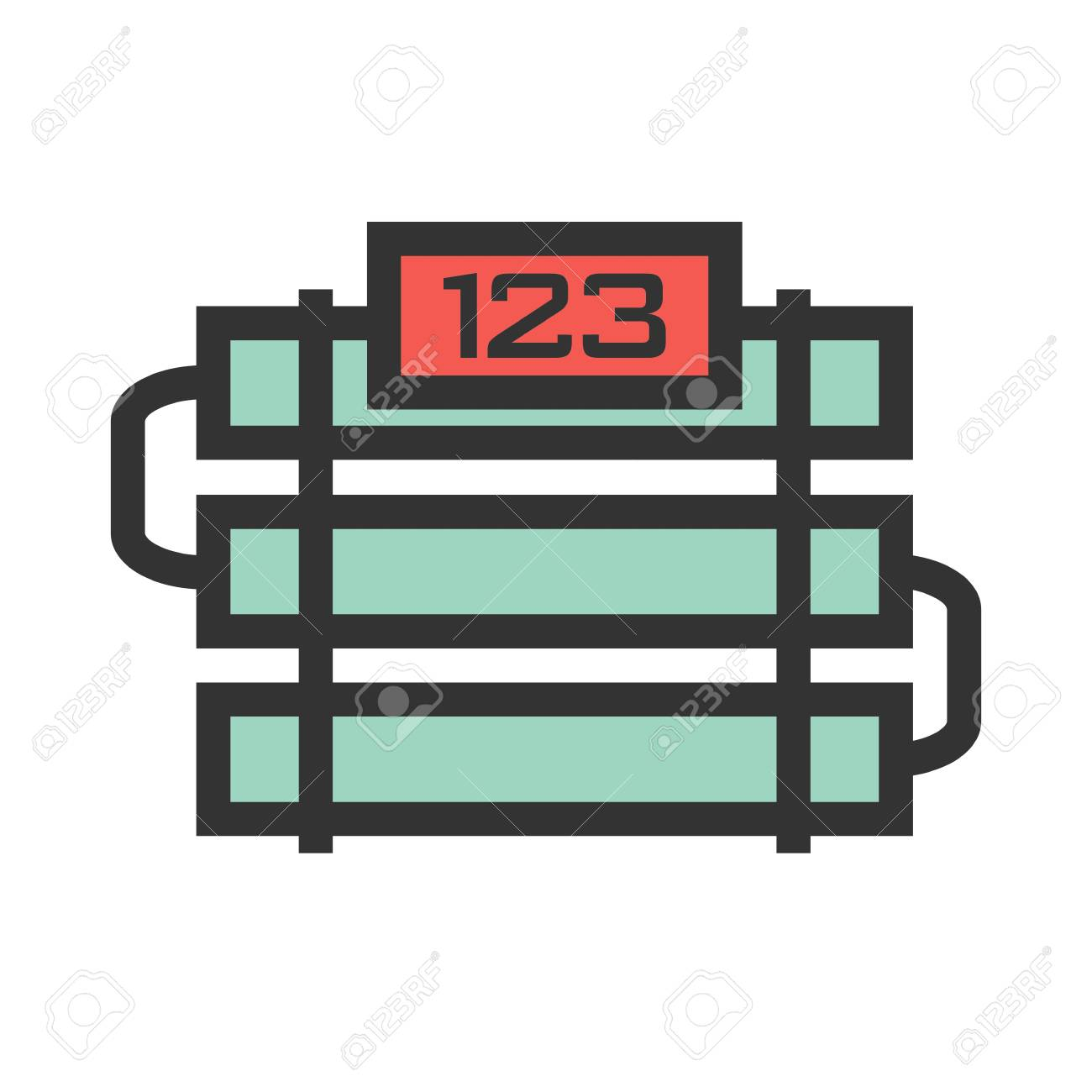 Military Time Clock >> Bomb Time Clock Icon Vector Image Can Also Be Used For Military